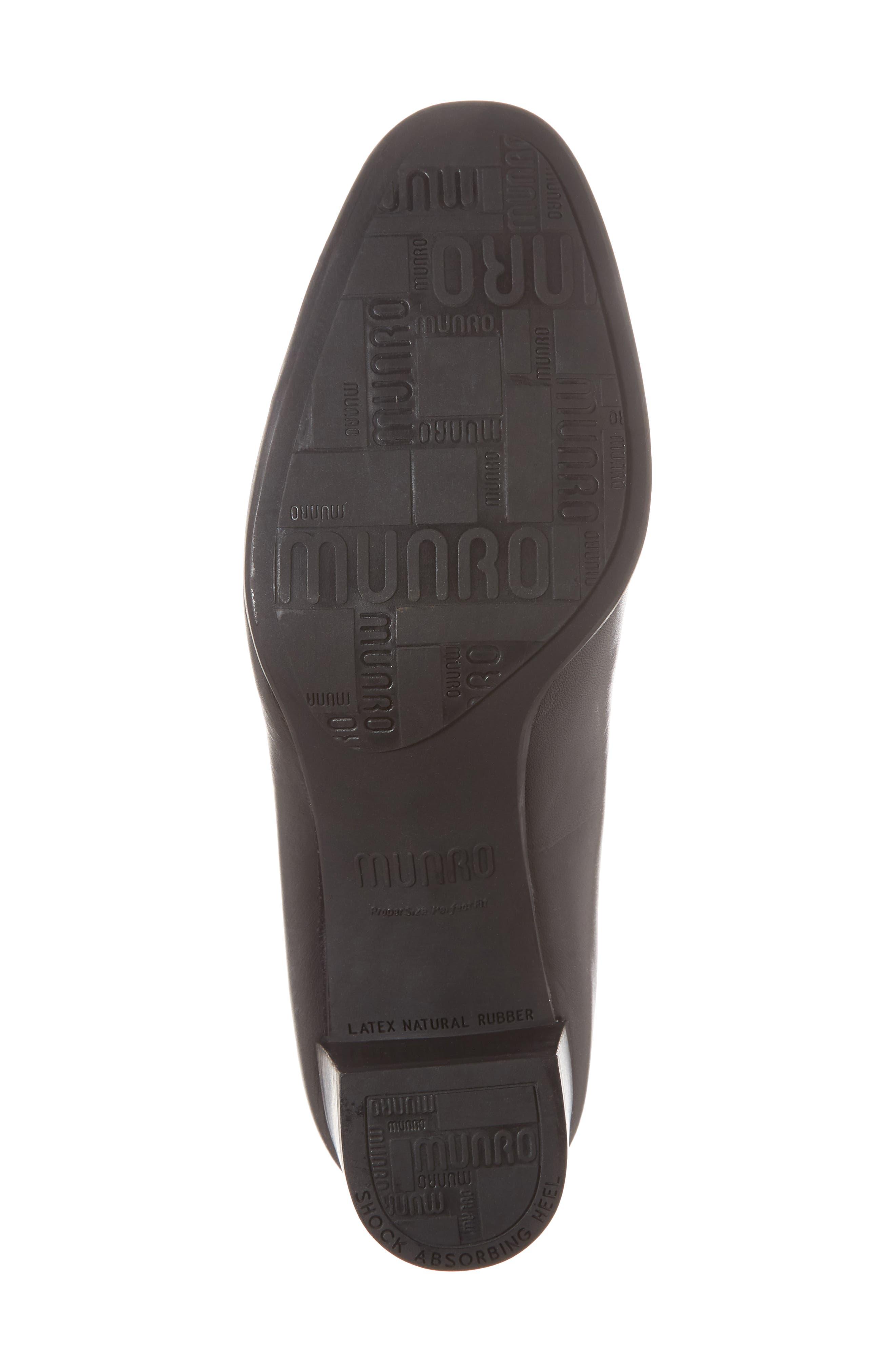 Allee Pump,                             Alternate thumbnail 6, color,                             Black Leather