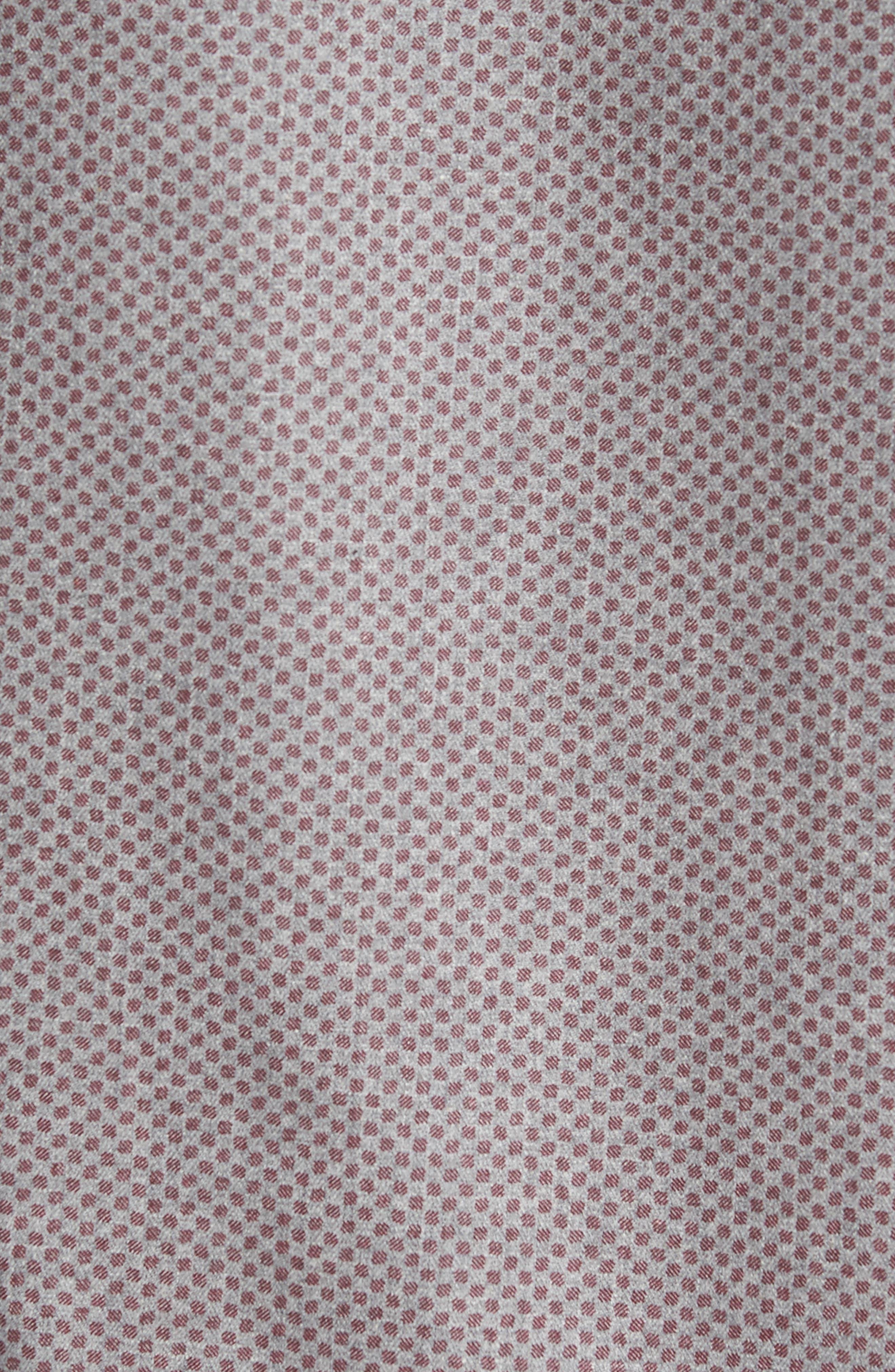 Ludlow Slim Fit Flannel Sport Shirt,                             Alternate thumbnail 5, color,                             Grey