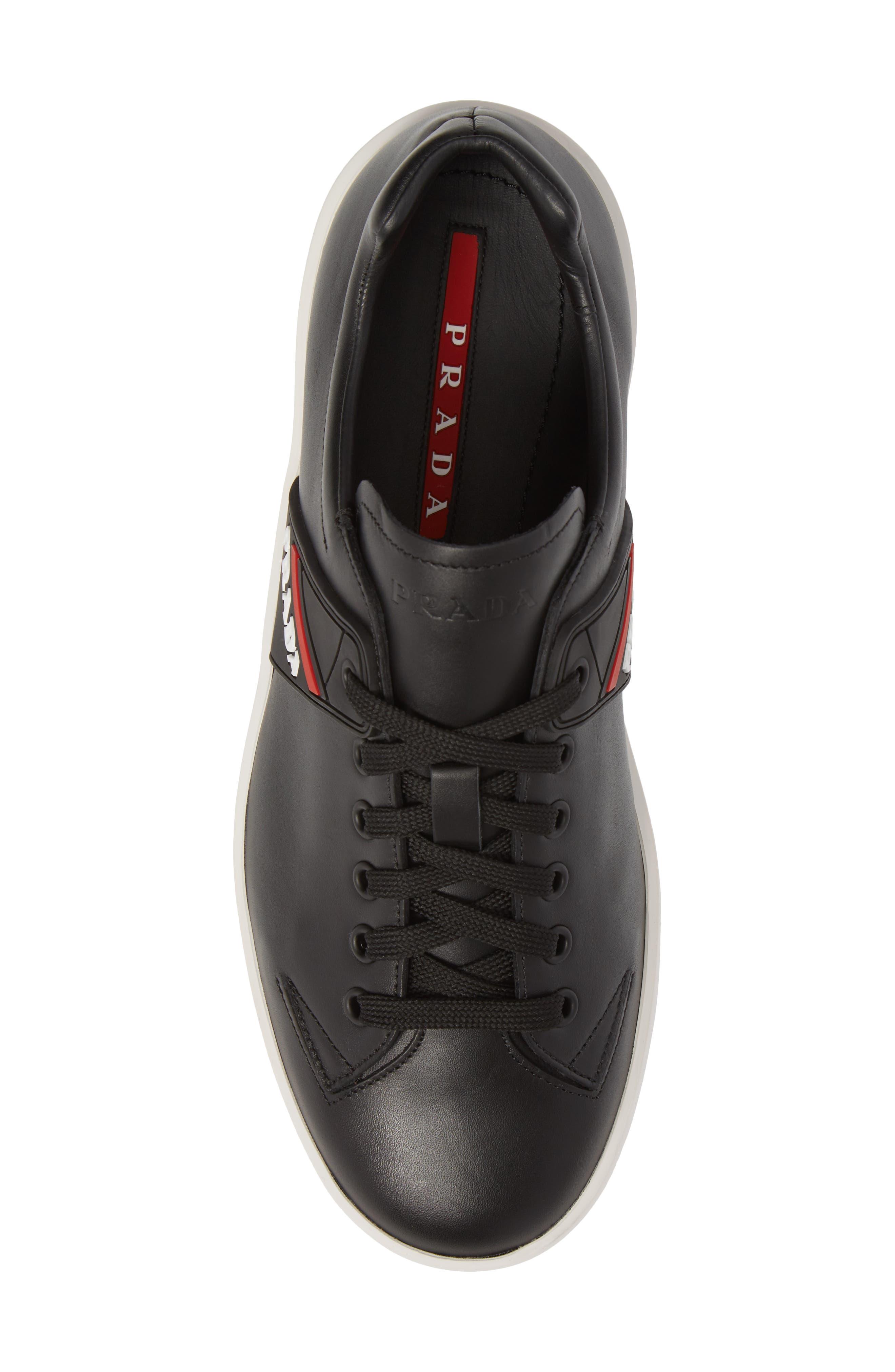 Linea Rossa Sneaker,                             Alternate thumbnail 5, color,                             Nero Bianco