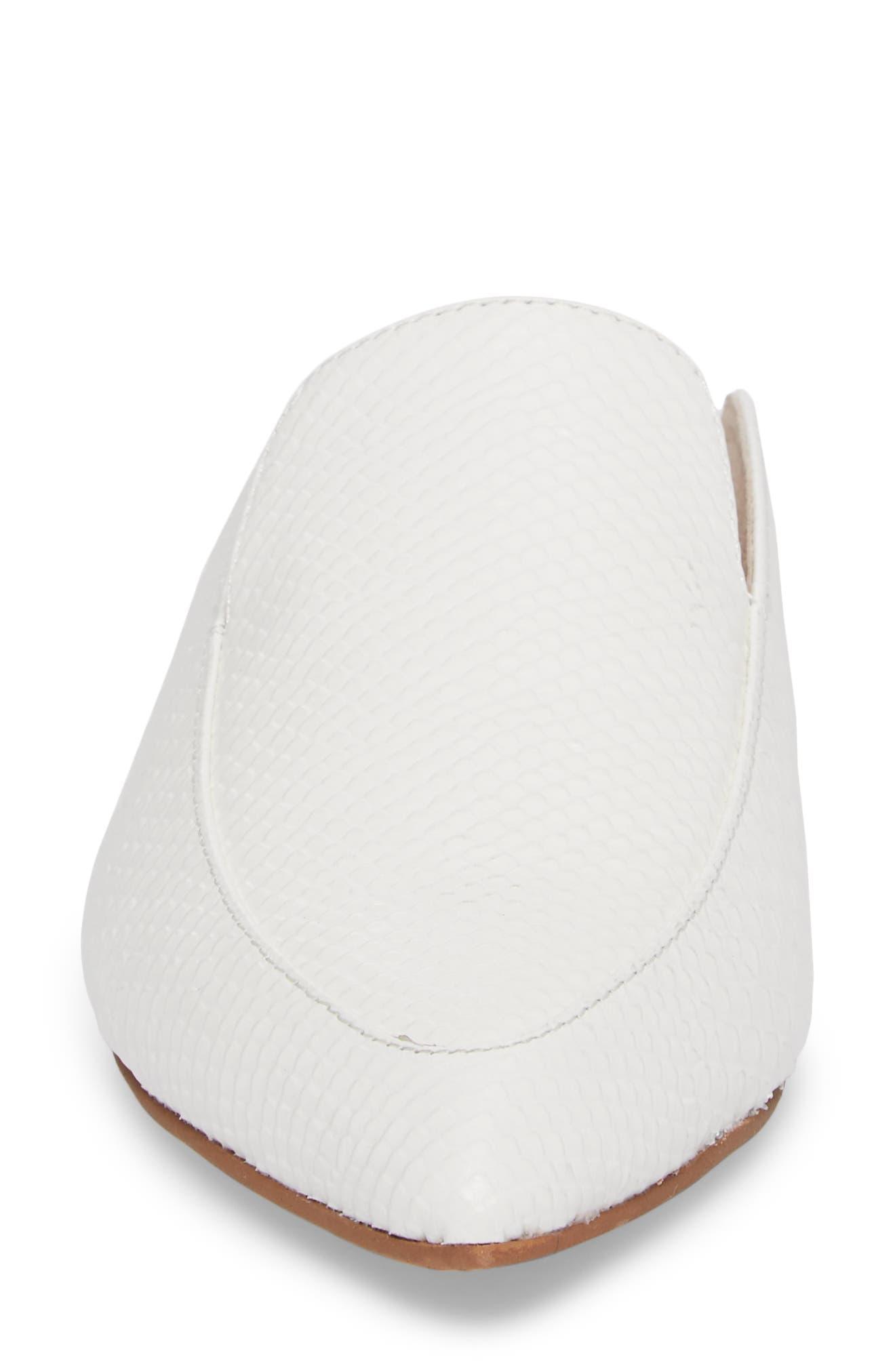 'Capri' Mule,                             Alternate thumbnail 4, color,                             White Leather