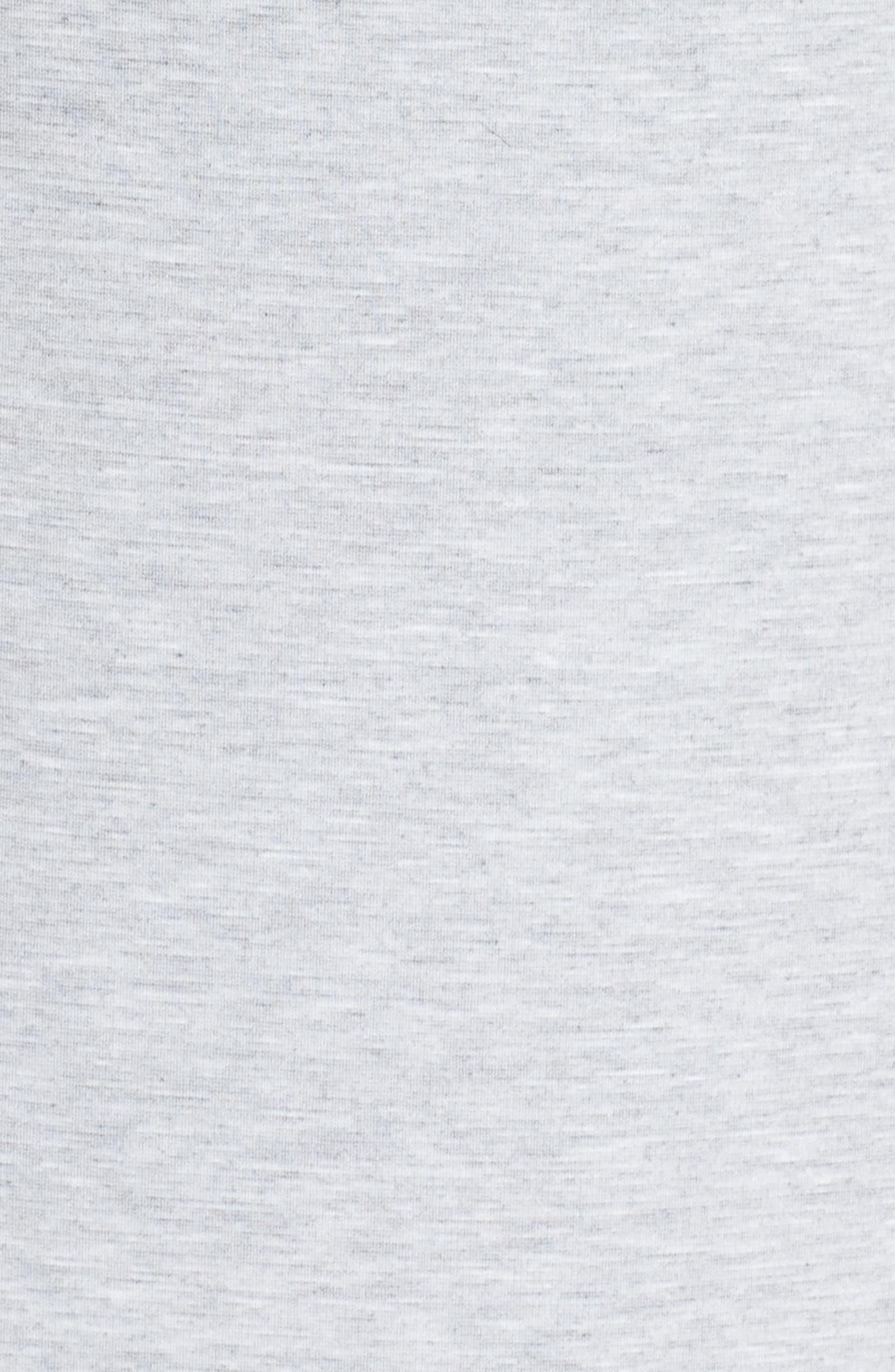 Ruffle Shoulder Sweatshirt Dress,                             Alternate thumbnail 5, color,                             Heather Grey