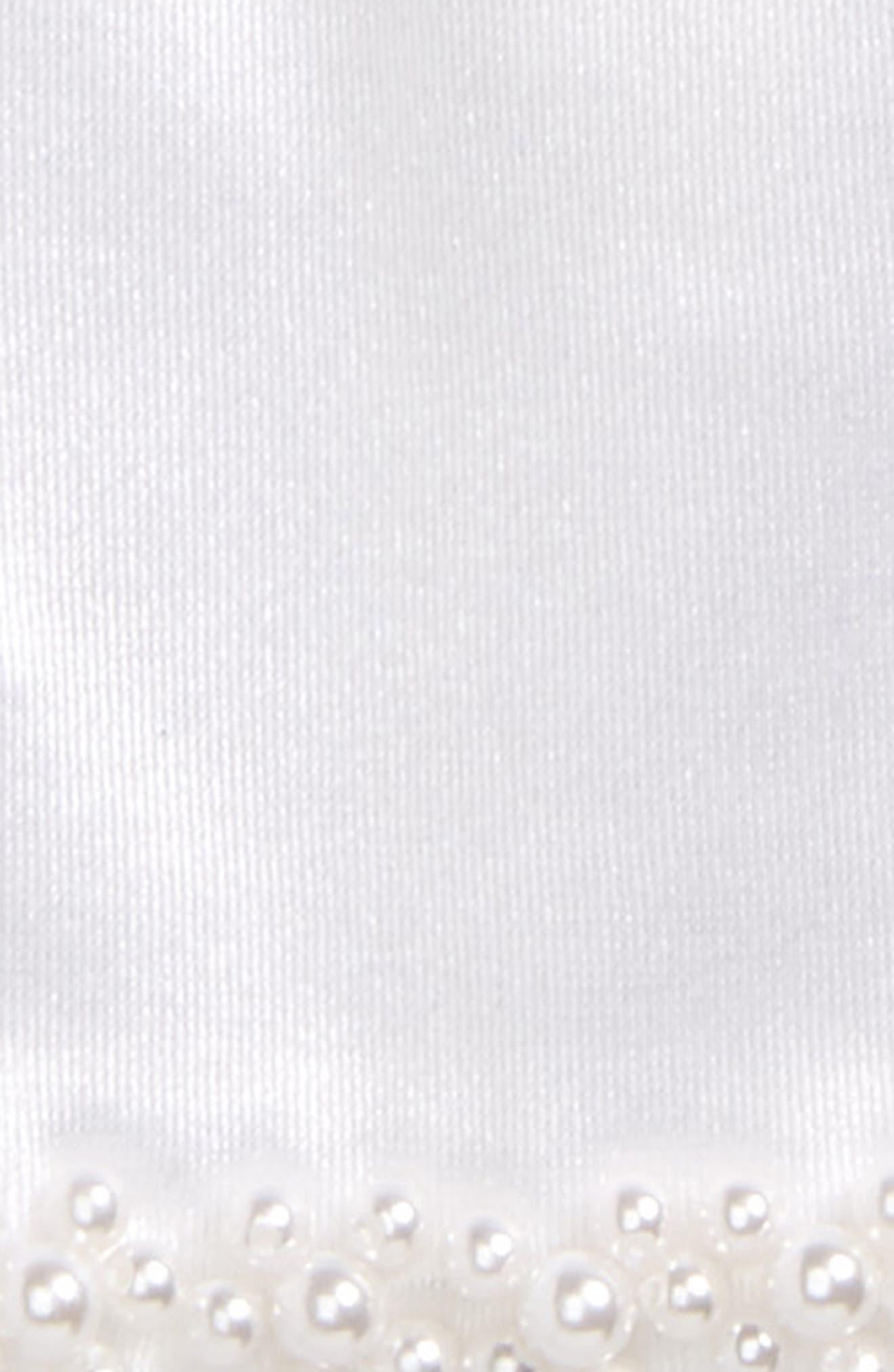 Beaded Satin Gloves,                             Alternate thumbnail 2, color,                             White
