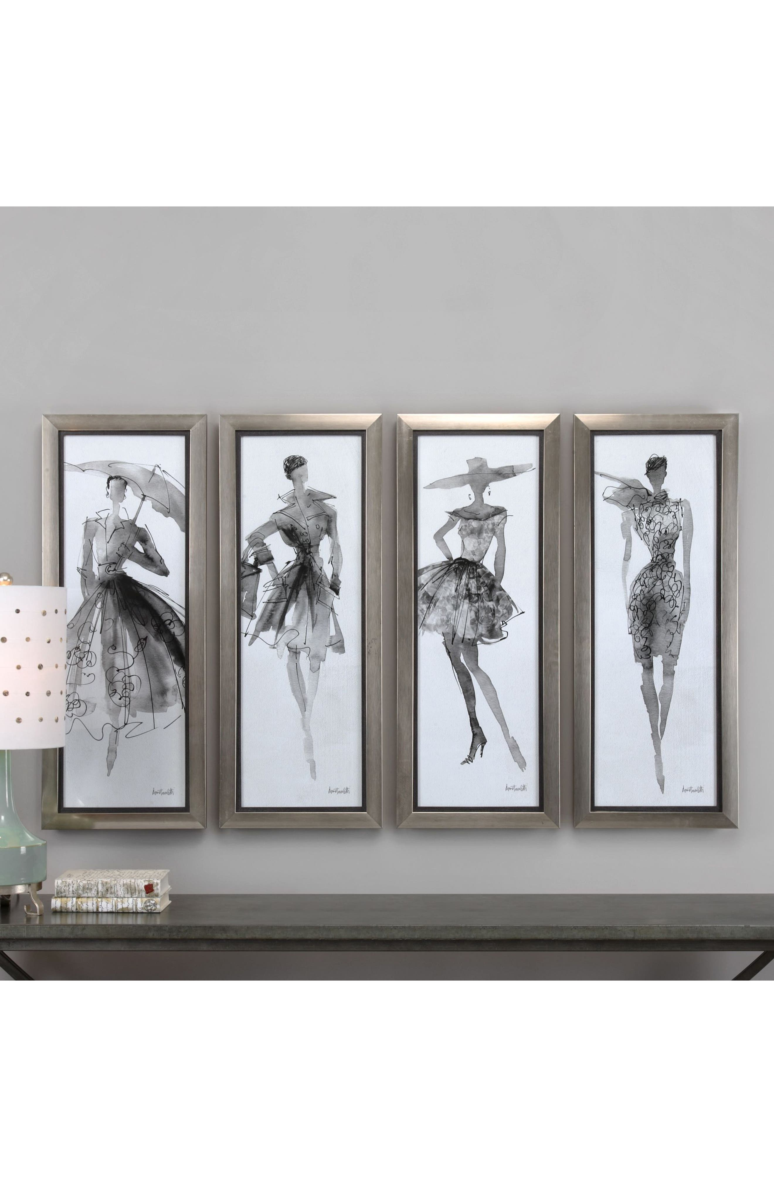 Alternate Image 2  - Uttermost Fashion Sketchbook 4-Piece Wall Art Set