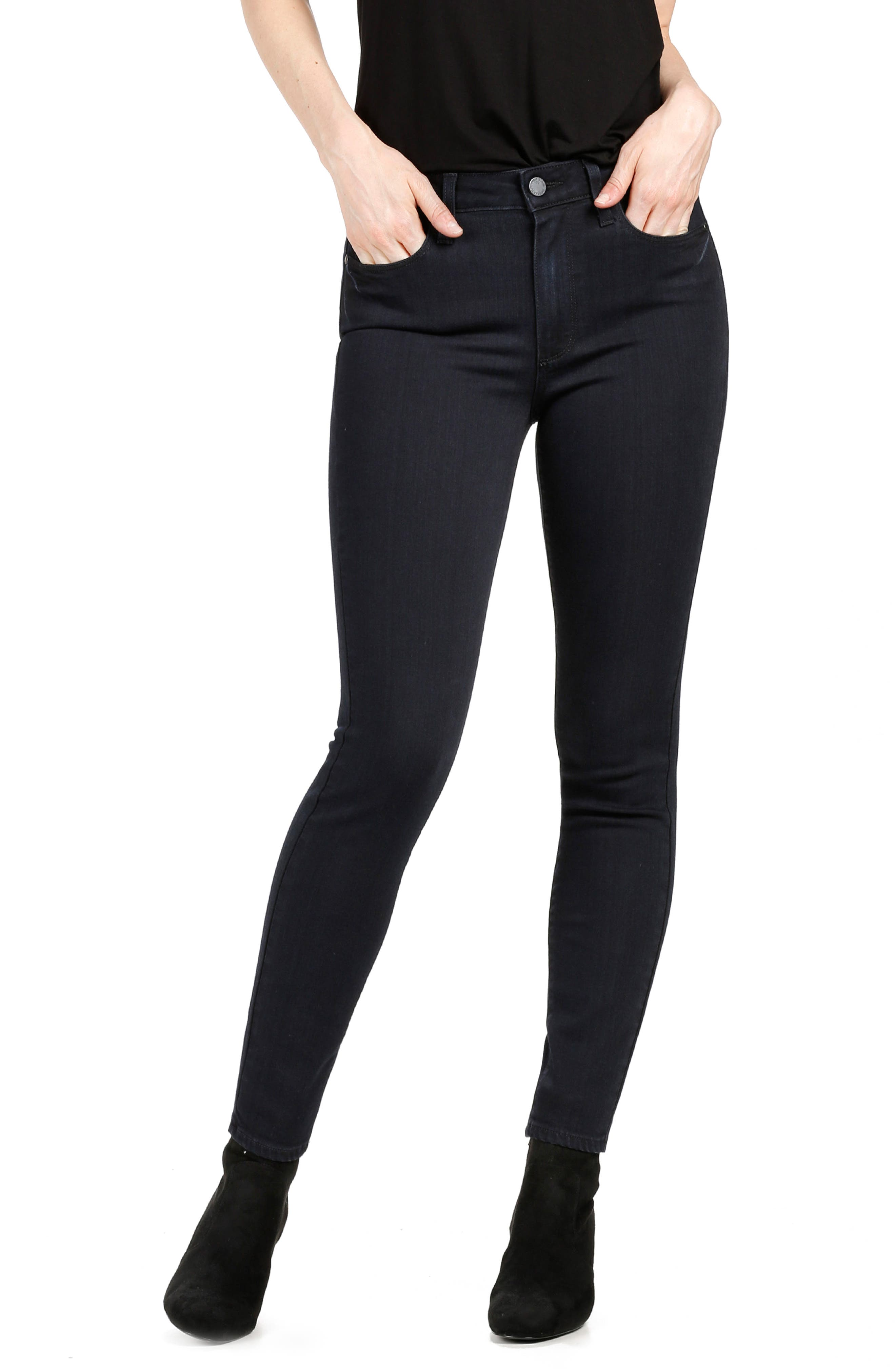 PAIGE Transcend - Hoxton High Waist Ankle Skinny Jeans (Cherie)