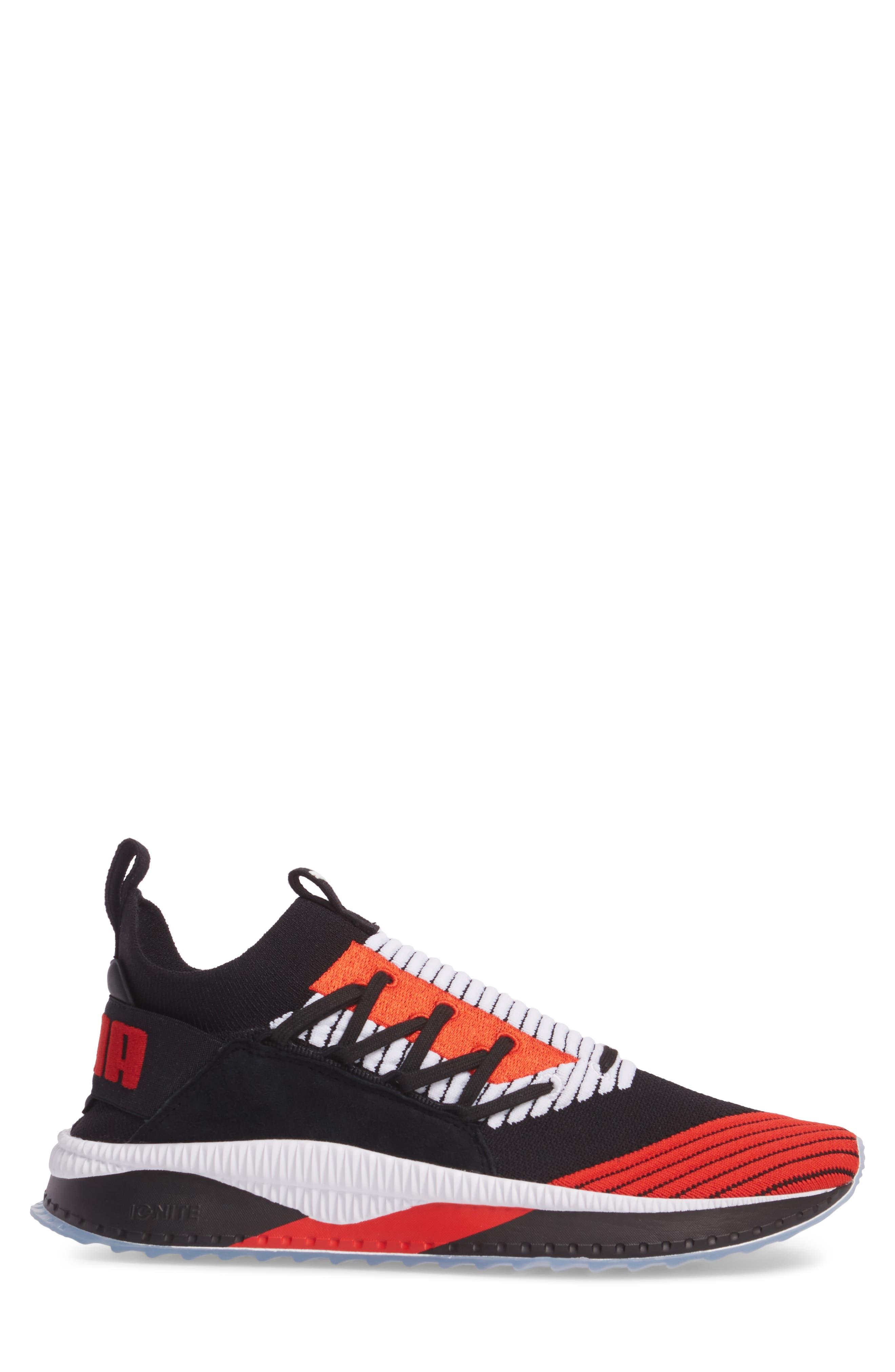 Tsugi Shinsei UT Odyssey Sneaker,                             Alternate thumbnail 3, color,                             Black/White/Flame Scarlet