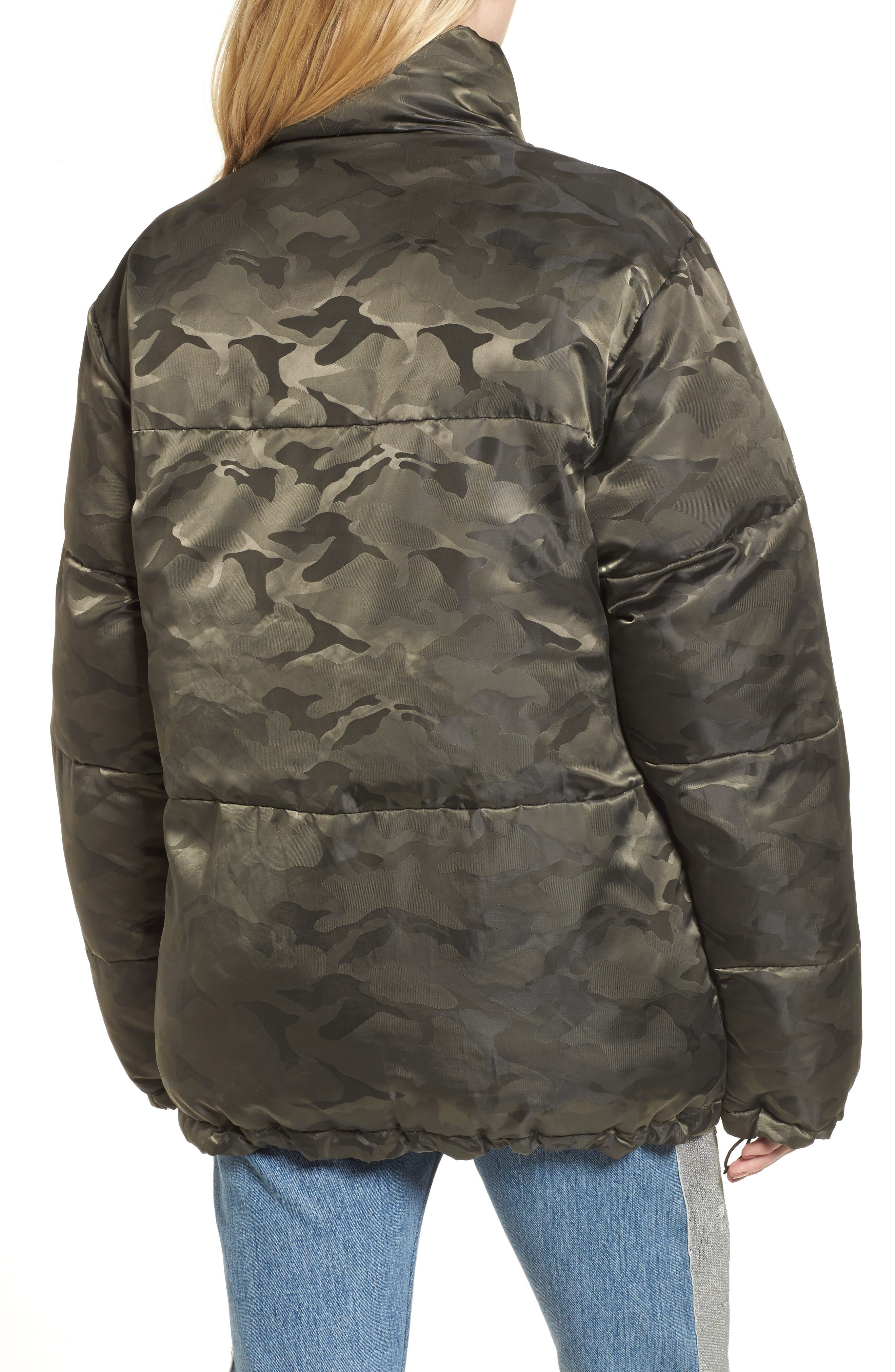 Reversible Puffer Jacket,                             Alternate thumbnail 2, color,                             Army/ Navy