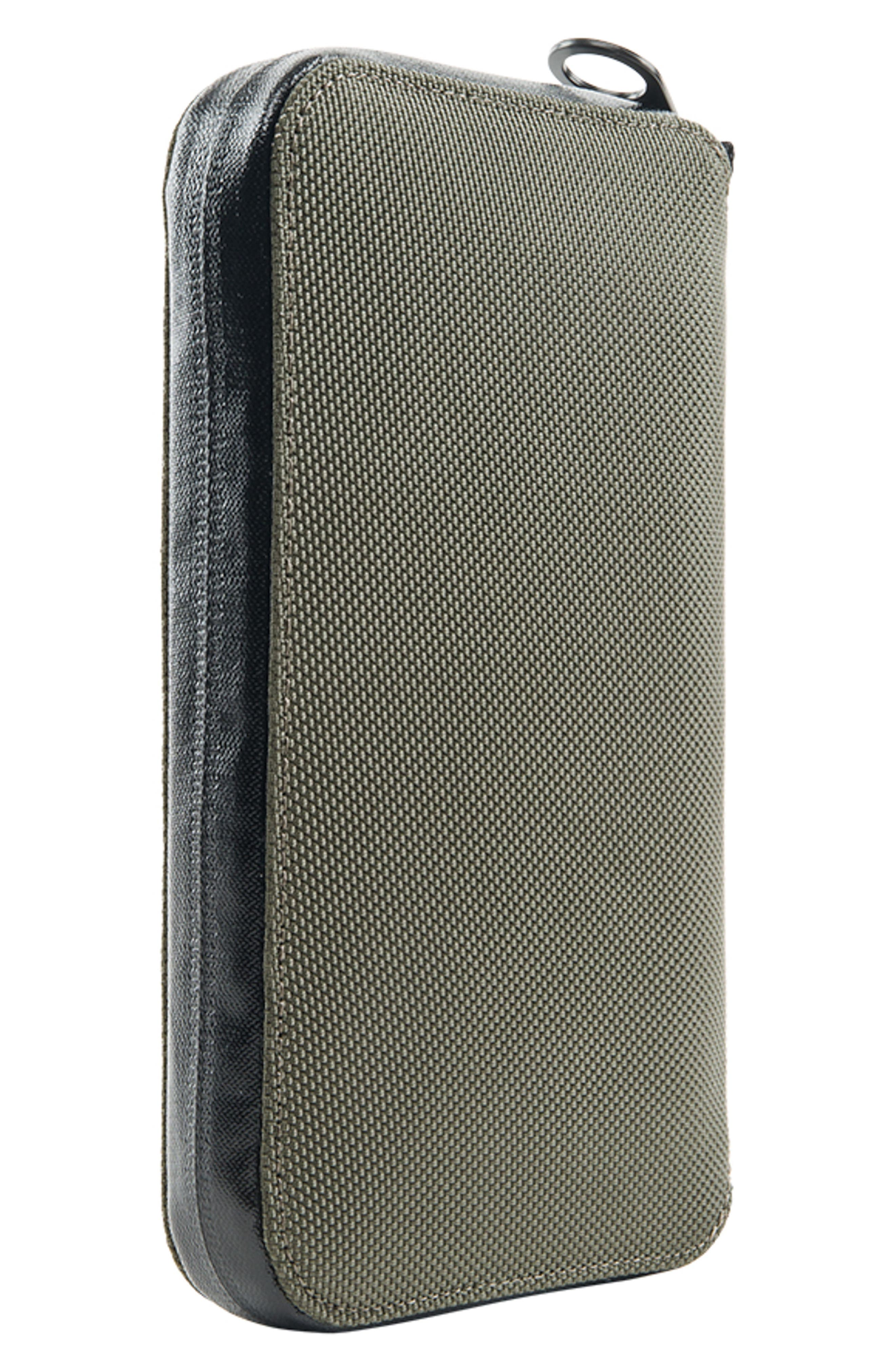 Zip Passport Wallet,                             Alternate thumbnail 3, color,                             Anthracite