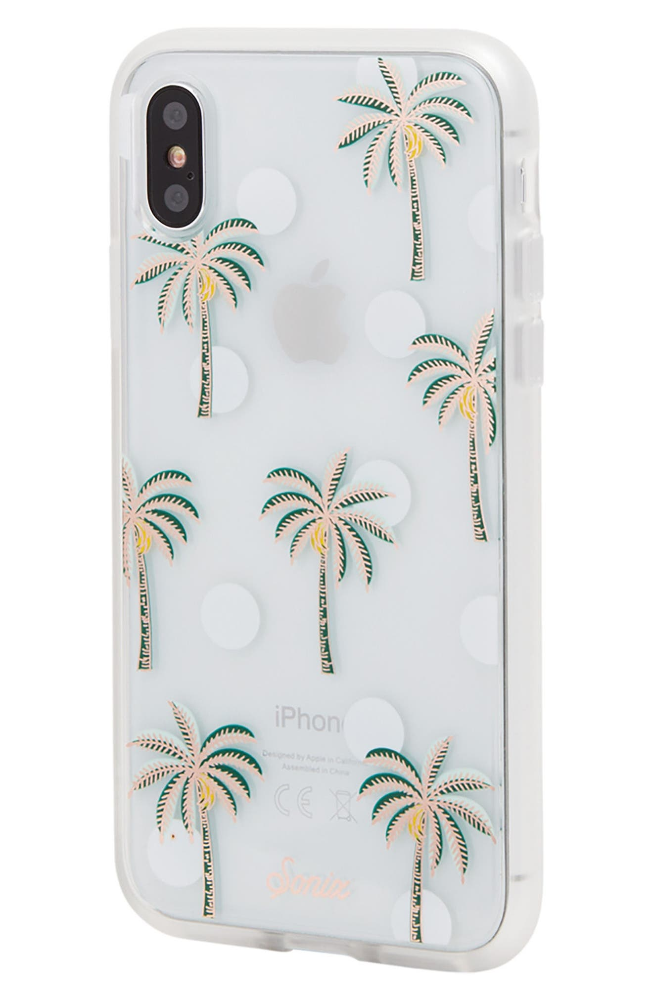 Bora Bora iPhone X Case,                             Alternate thumbnail 2, color,                             Green/ White