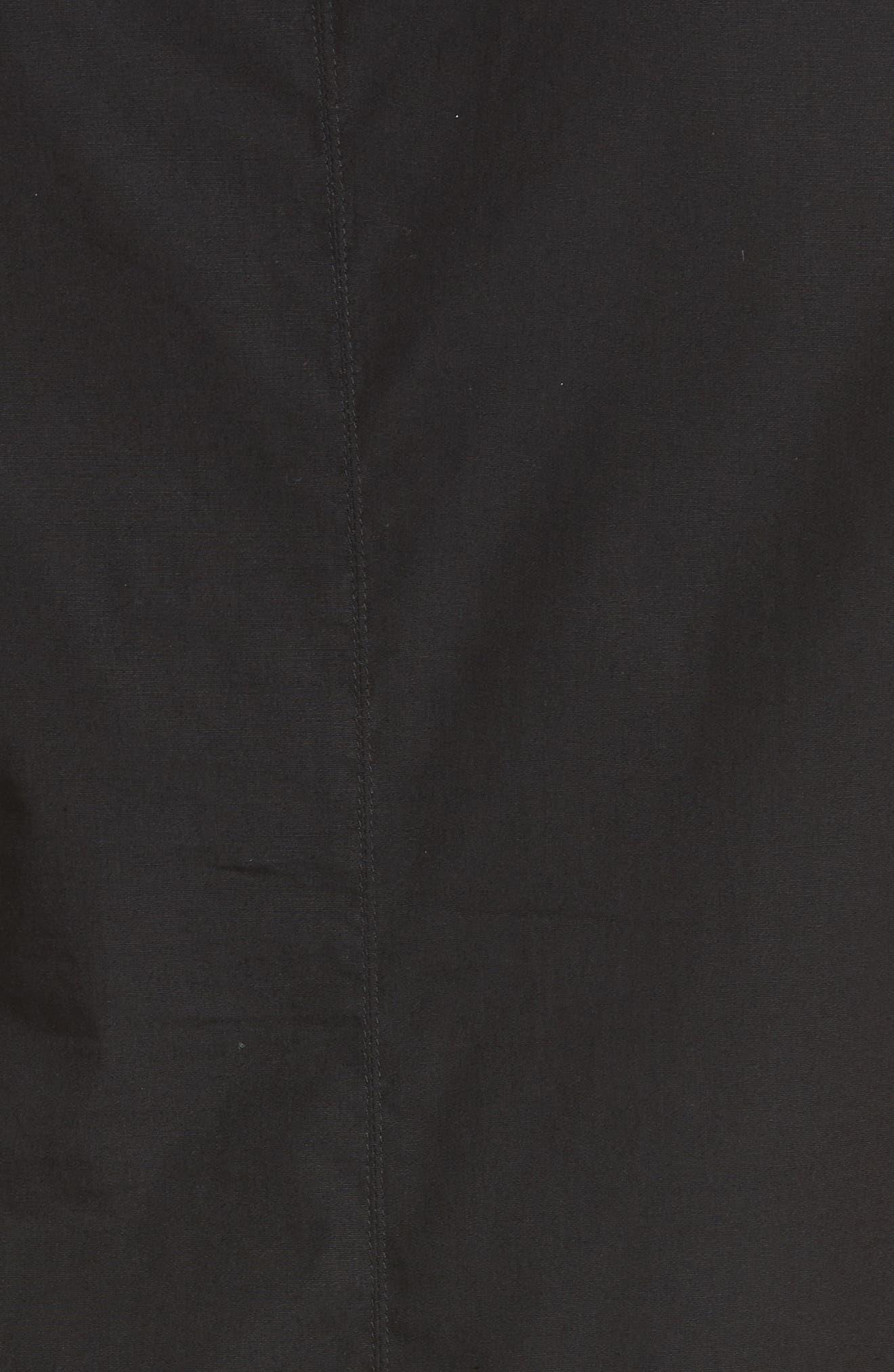 Sleeveless Poplin Shift Dress,                             Alternate thumbnail 6, color,                             Nero