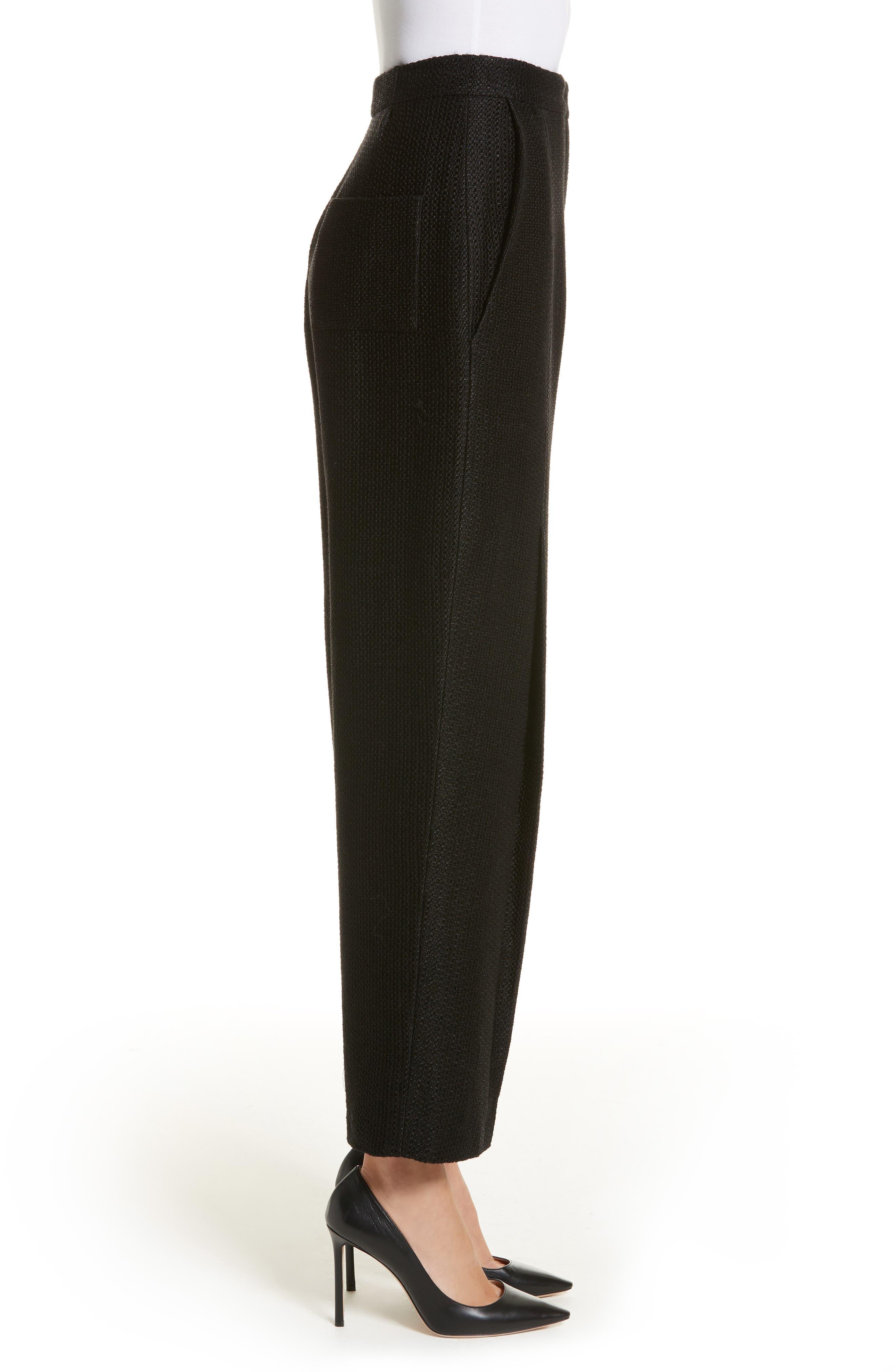 Tweed Pants,                             Alternate thumbnail 3, color,                             Black