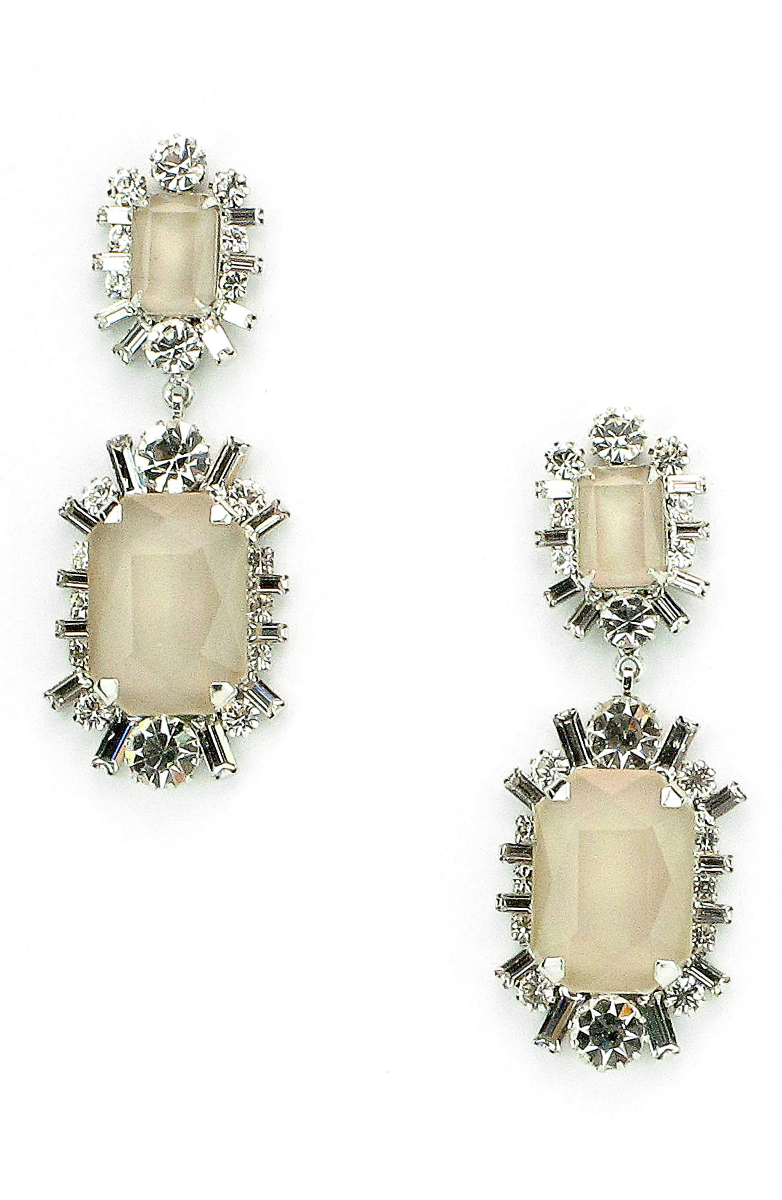 Alternate Image 1 Selected - Elizabeth Cole Piper Crystal Drop Earrings