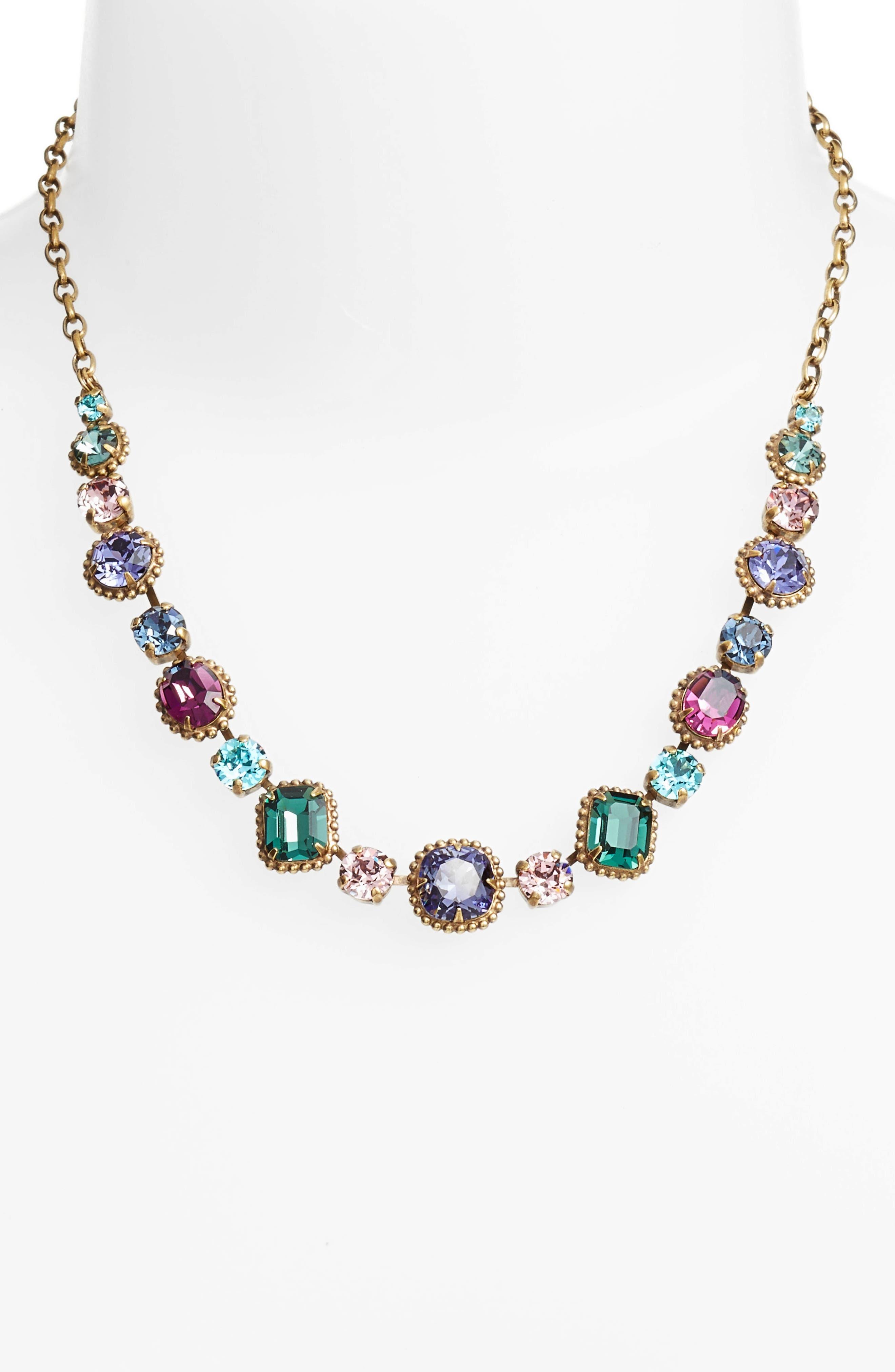 Embellished Elegance Necklace,                             Alternate thumbnail 2, color,                             Multi