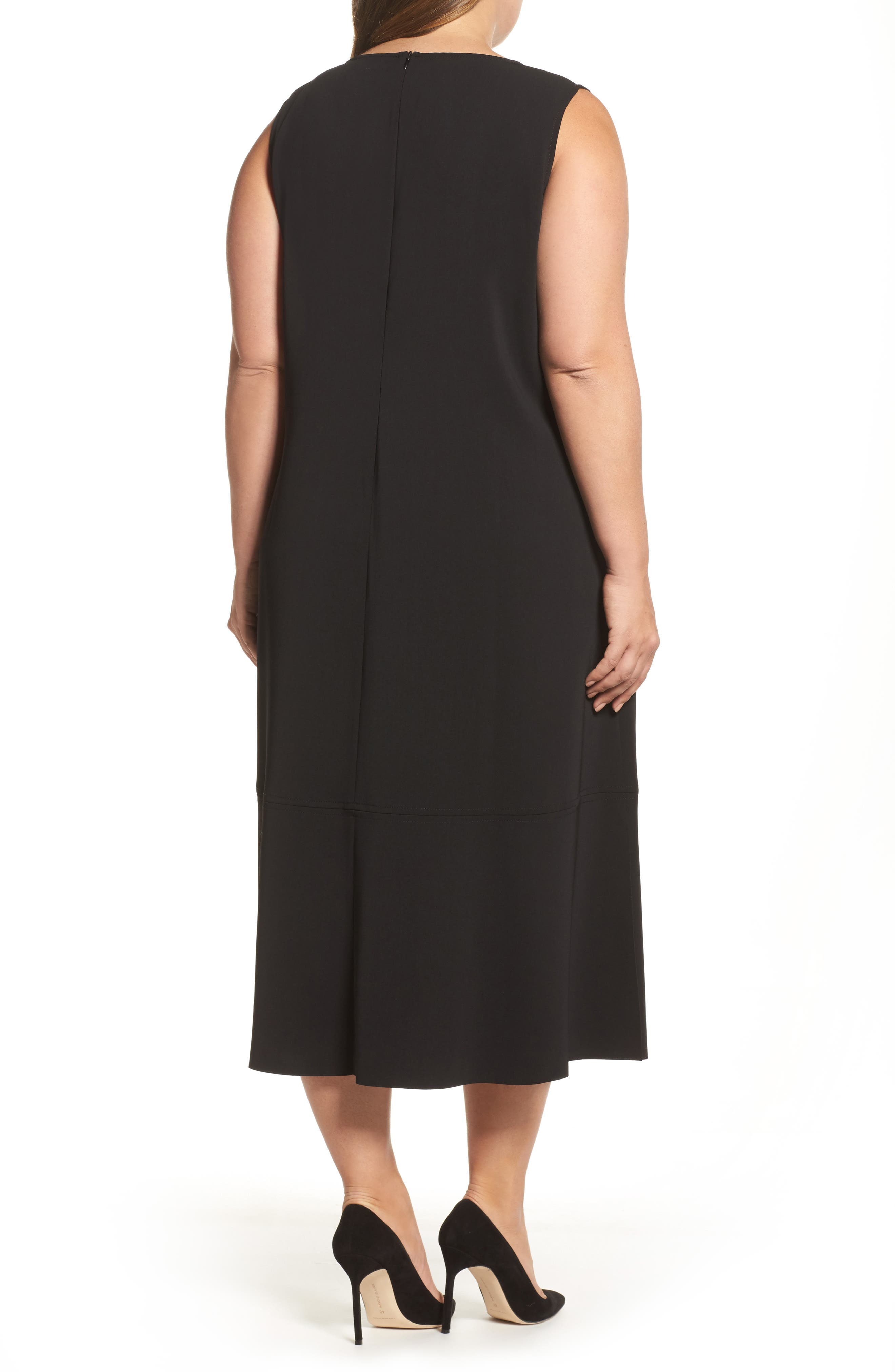 Alternate Image 2  - Persona by Marina Rinaldi Donna Sleeveless Maxi Dress (Plus Size)