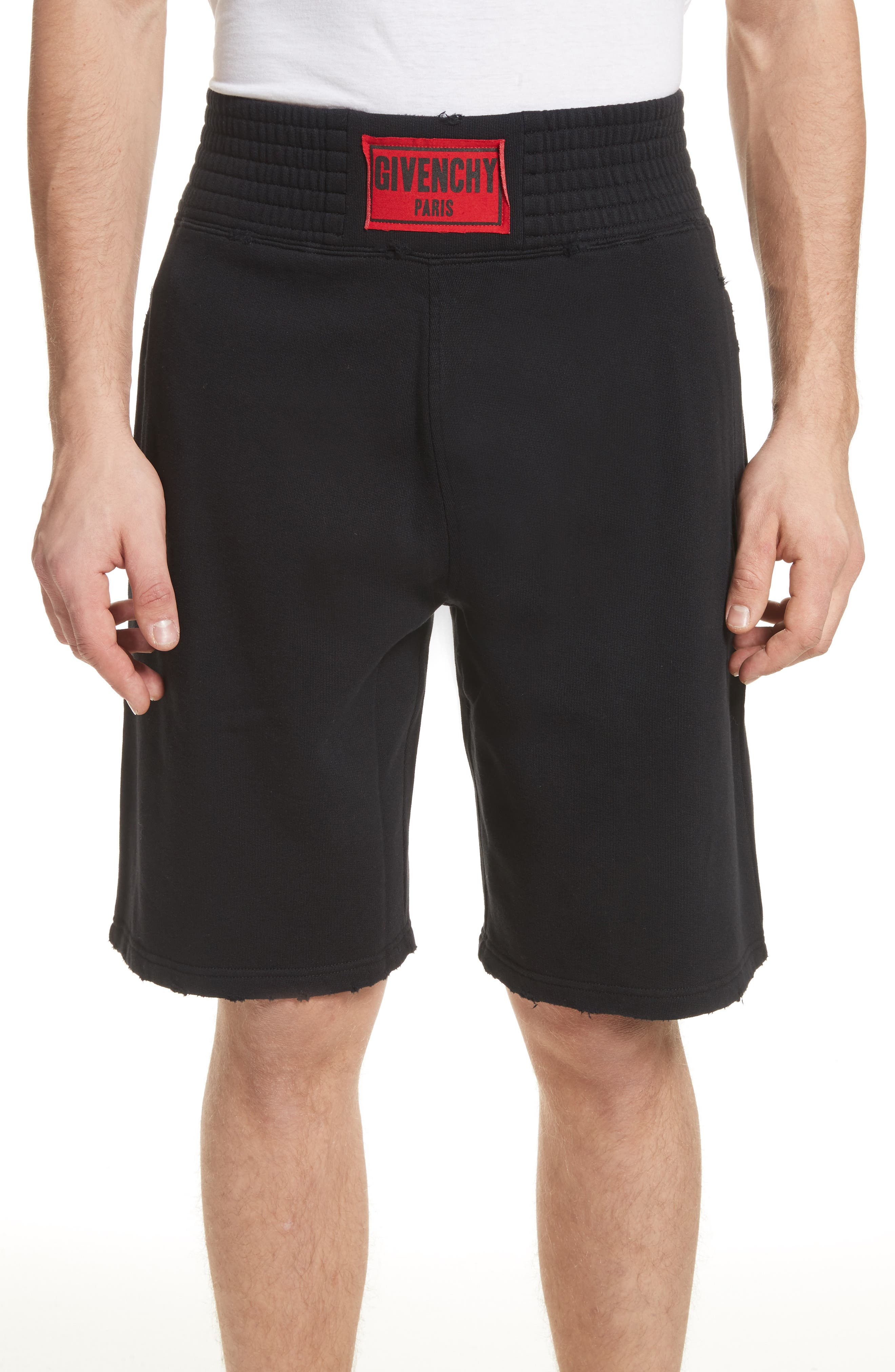 Knit Boxing Shorts,                             Main thumbnail 1, color,                             Black