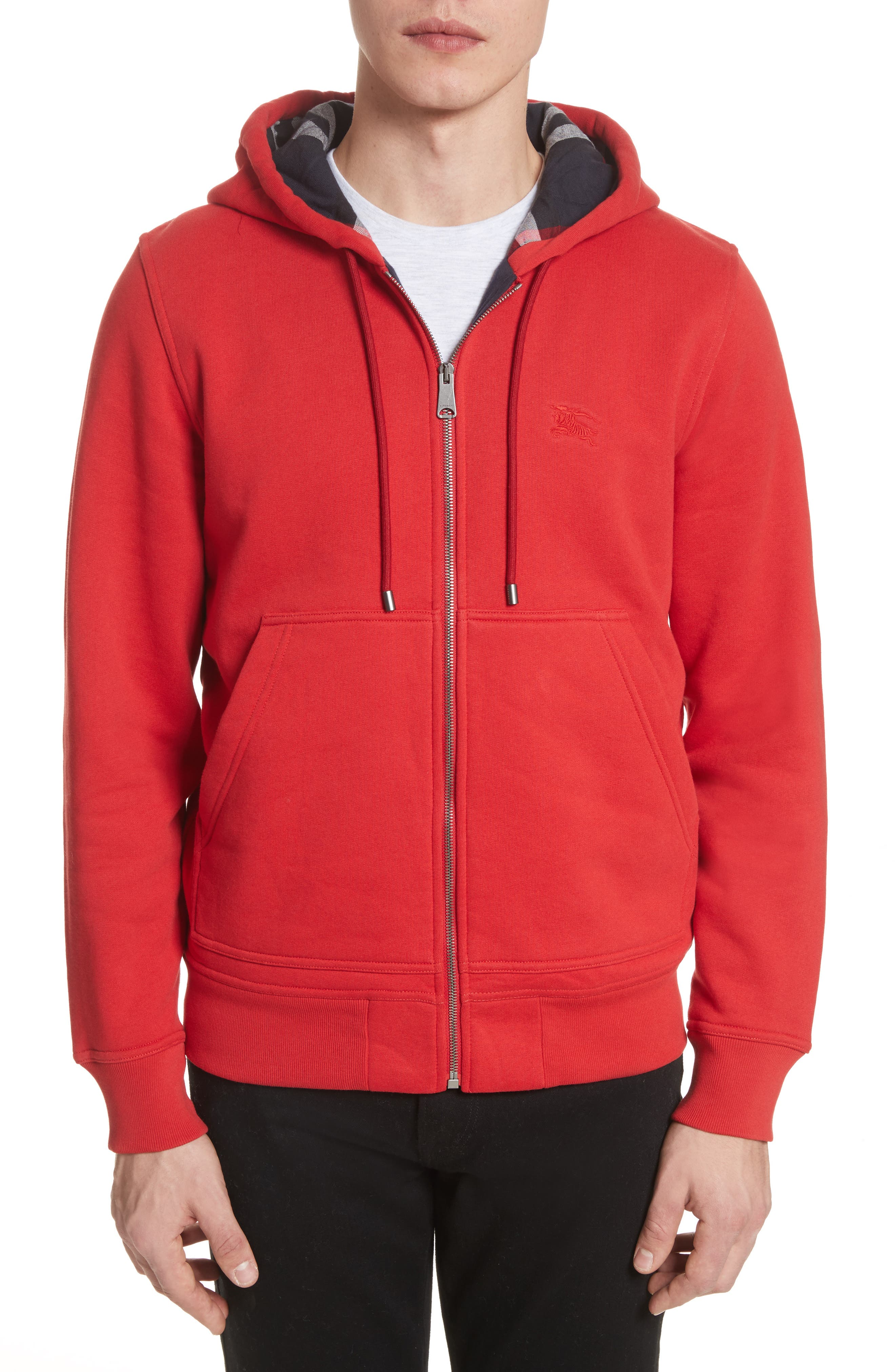 Fordson Fleece Hoodie,                         Main,                         color, Military Red