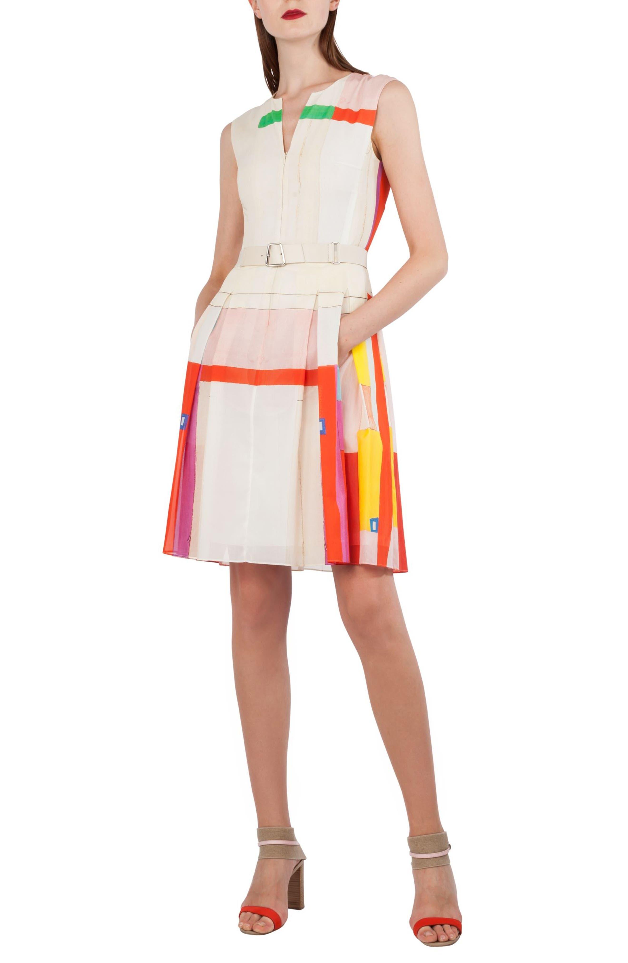 Main Image - Akris Mural Print Cotton Voile Dress