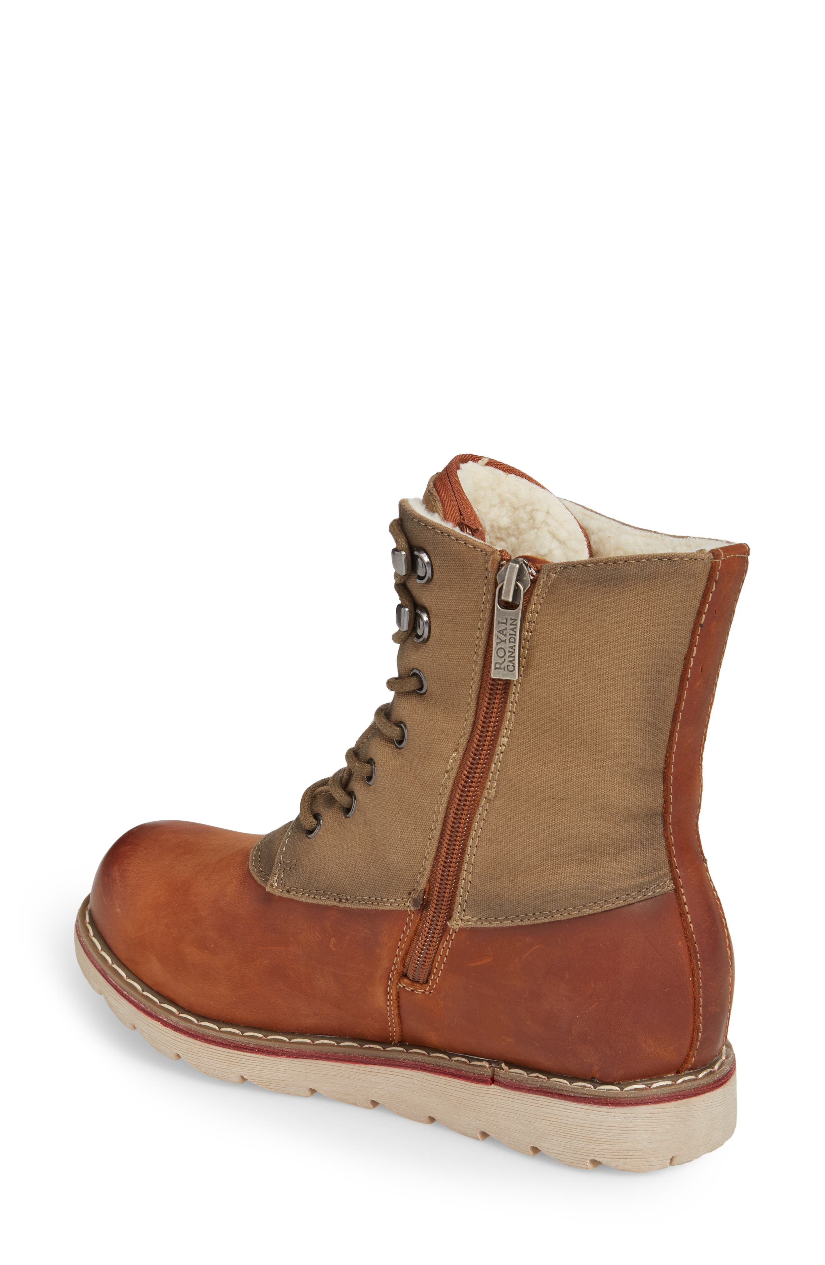 LaSalle Waterproof Insulated Winter Boot,                             Alternate thumbnail 2, color,                             Cognac Leather