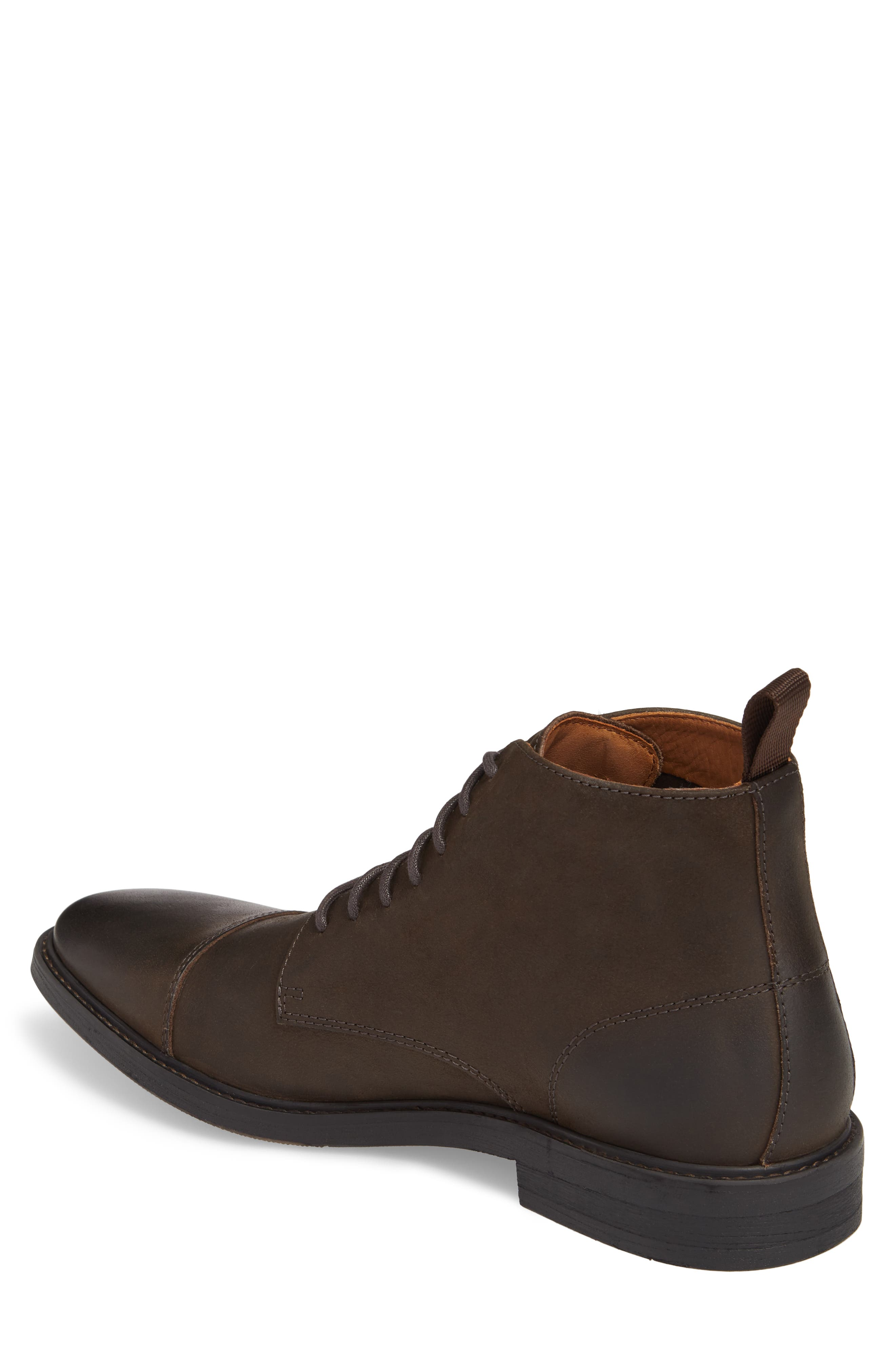 Pateros Cap Toe Boot,                             Alternate thumbnail 2, color,                             Chocolate Leather