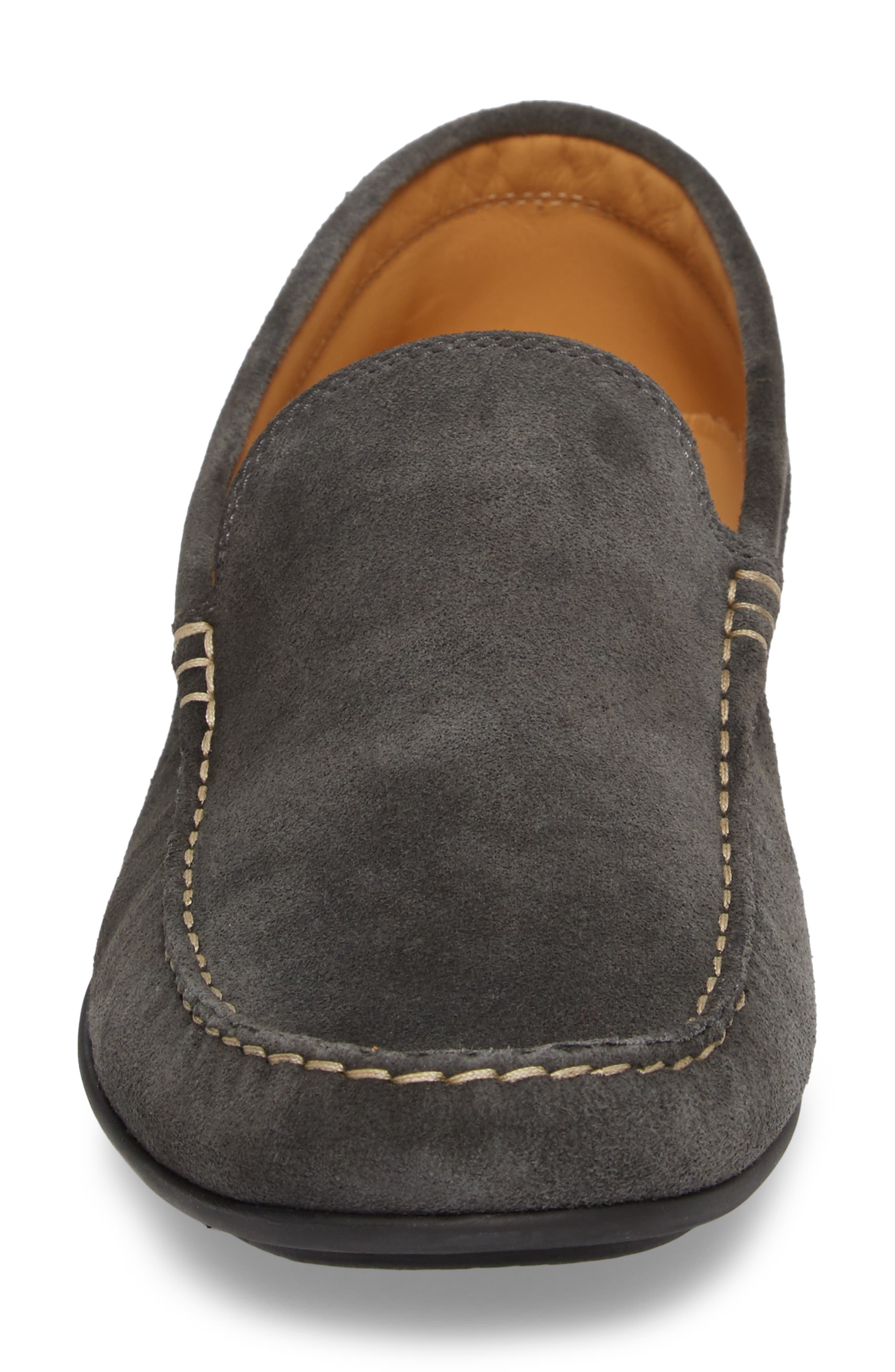 Greyhounds Loafer,                             Alternate thumbnail 4, color,                             Grey Suede
