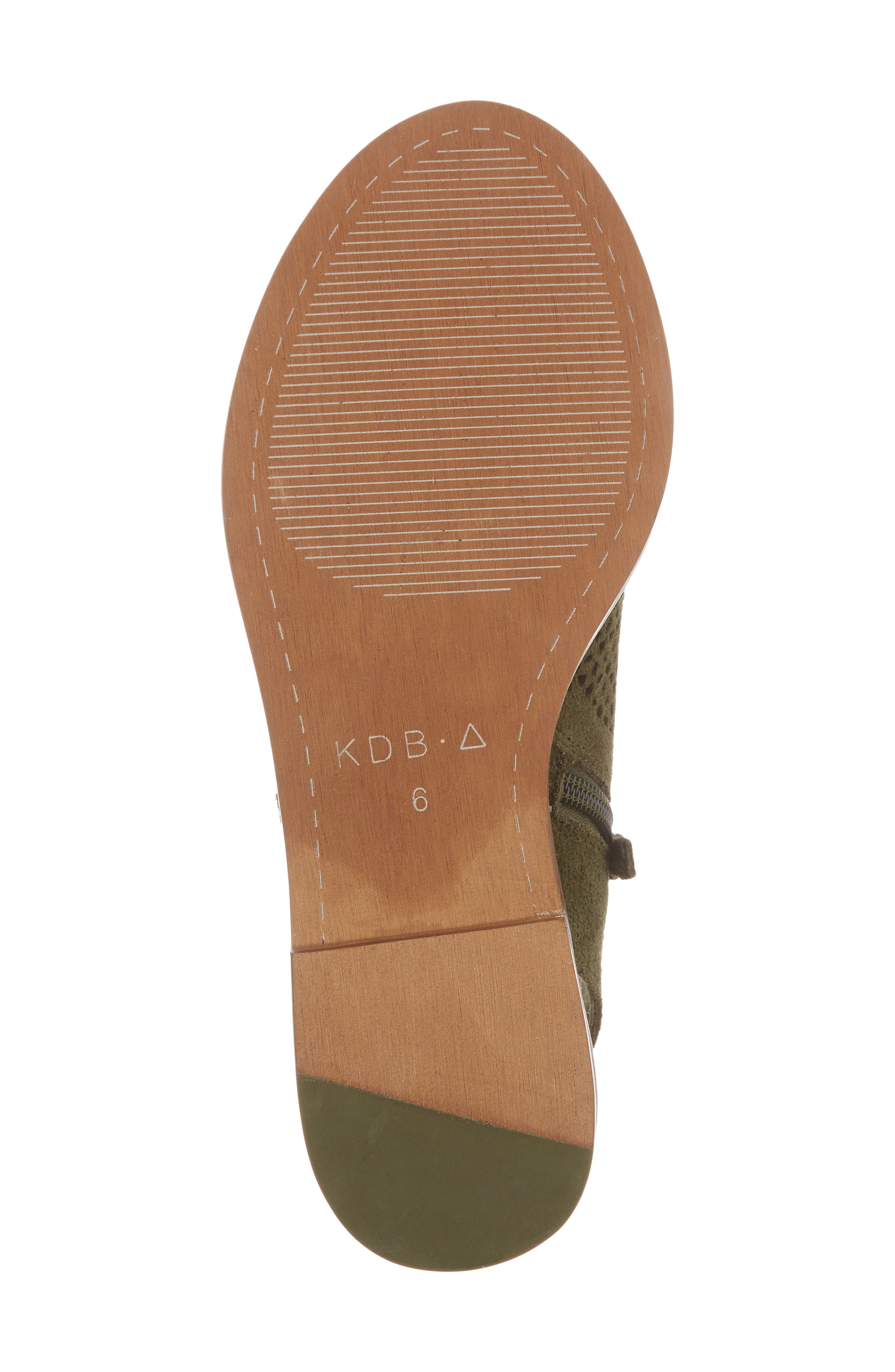 Seneca Perforated Sandal,                             Alternate thumbnail 6, color,                             Olive