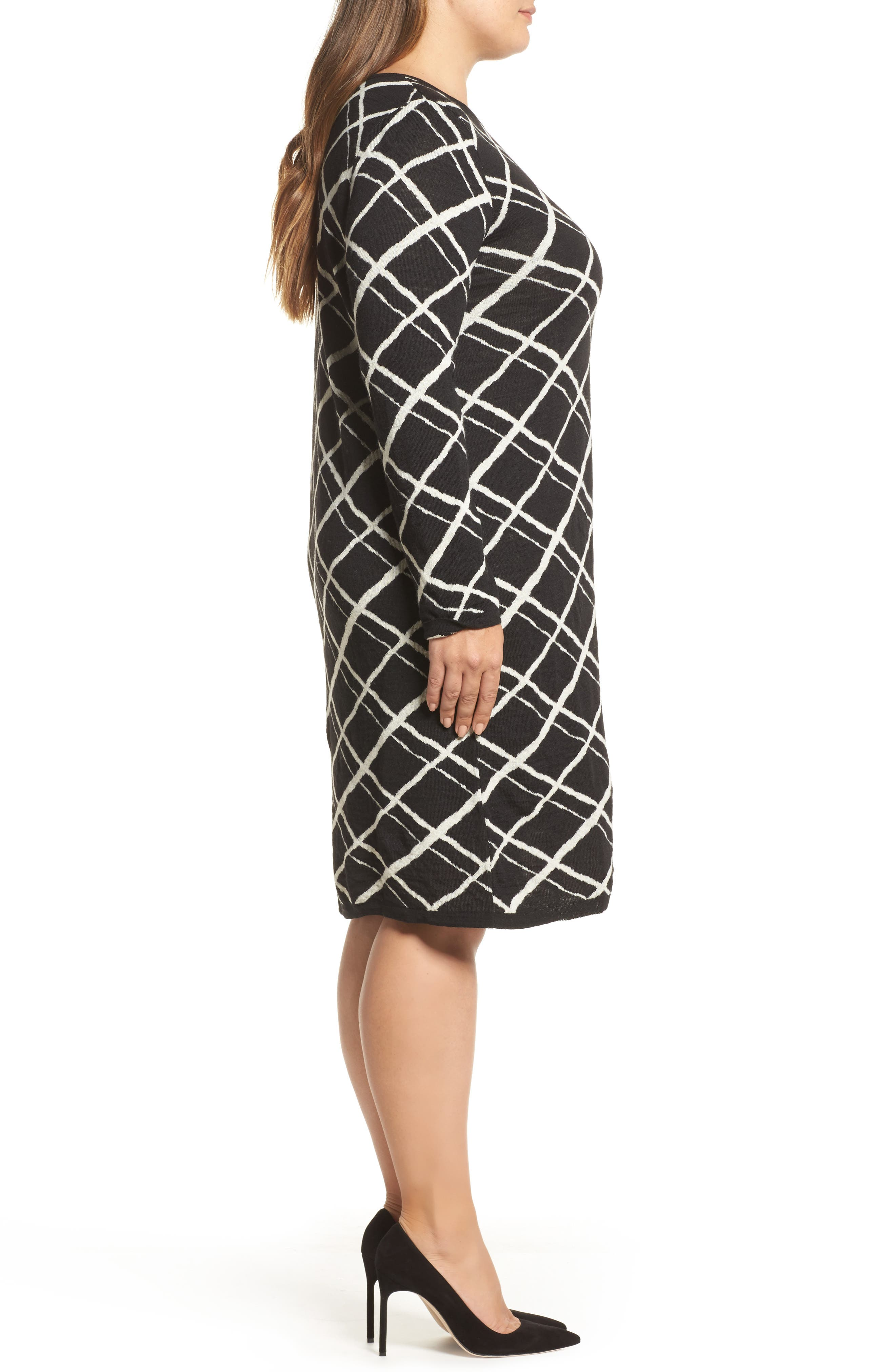 Alternate Image 3  - Persona by Marina Rinaldi Genesi Checkered Knit Dress (Plus Size)