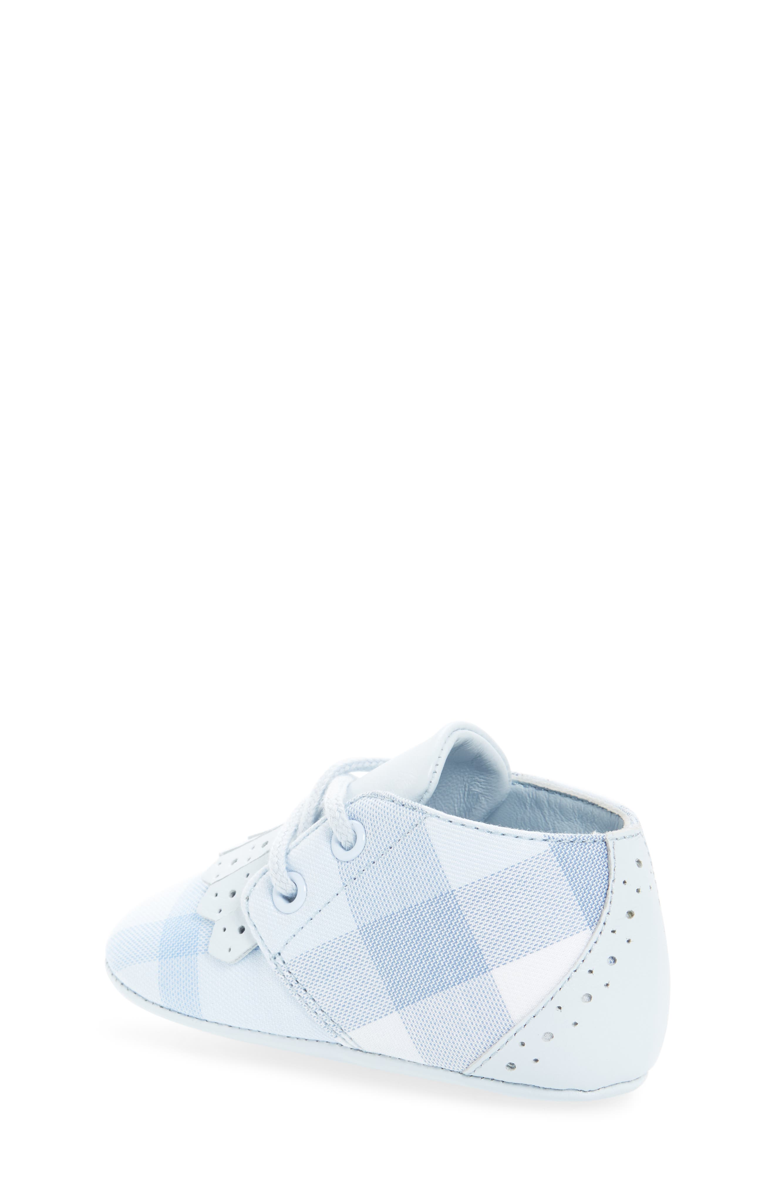 Alternate Image 2  - Burberry Tom Lace-Up Crib Shoe (Baby)