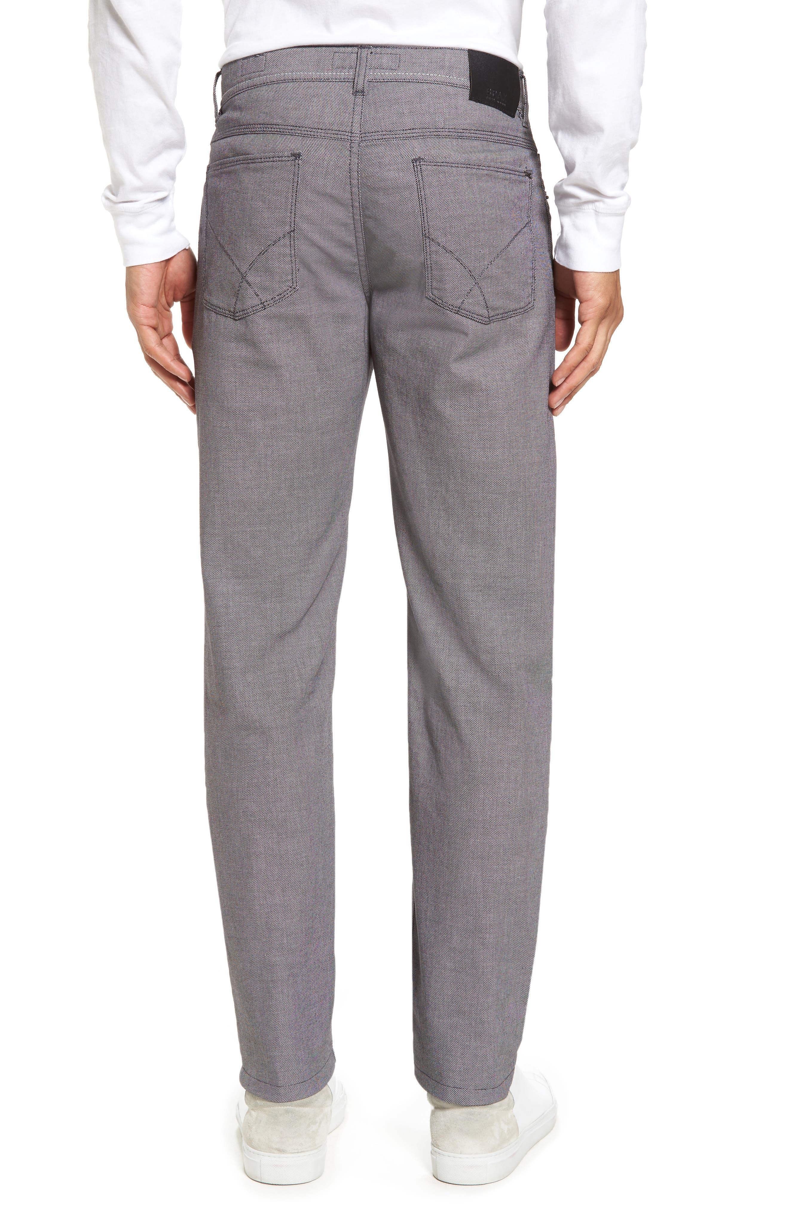 Cooper Bird's Eye Stretch Cotton Pants,                             Alternate thumbnail 2, color,                             Grey