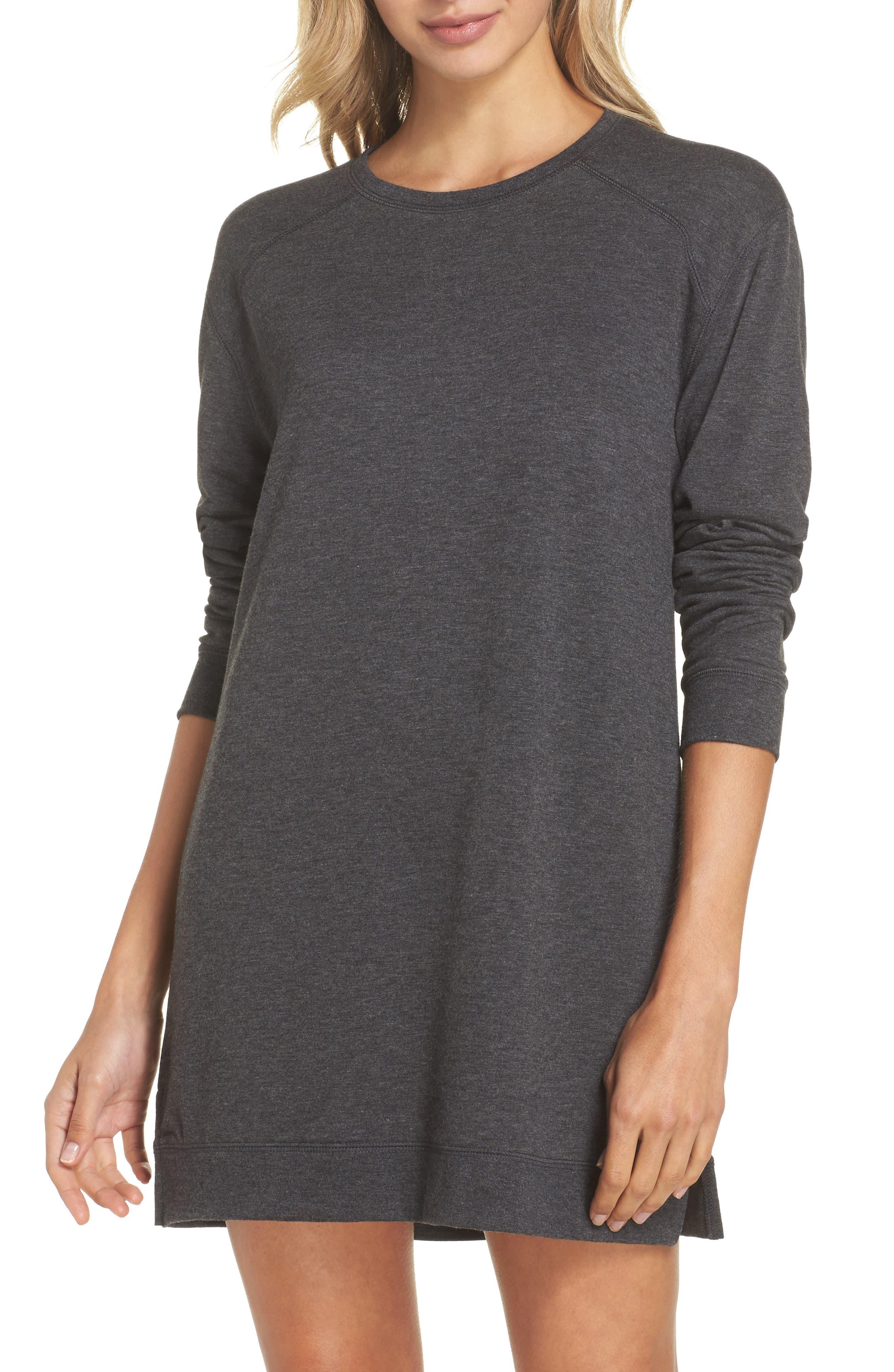 Sleepy Tunic Shirt,                         Main,                         color, Grey Wolf Heather