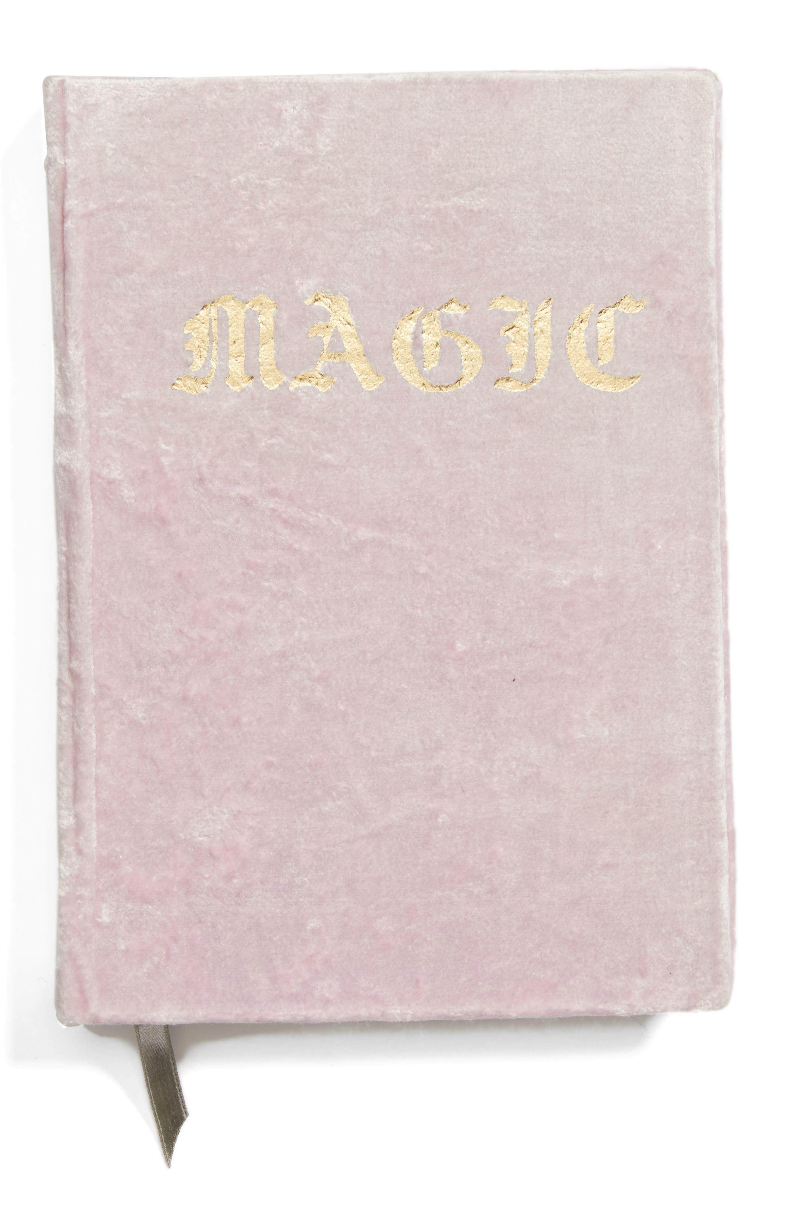 Printfresh Magic Velvet Journal,                         Main,                         color, Pink