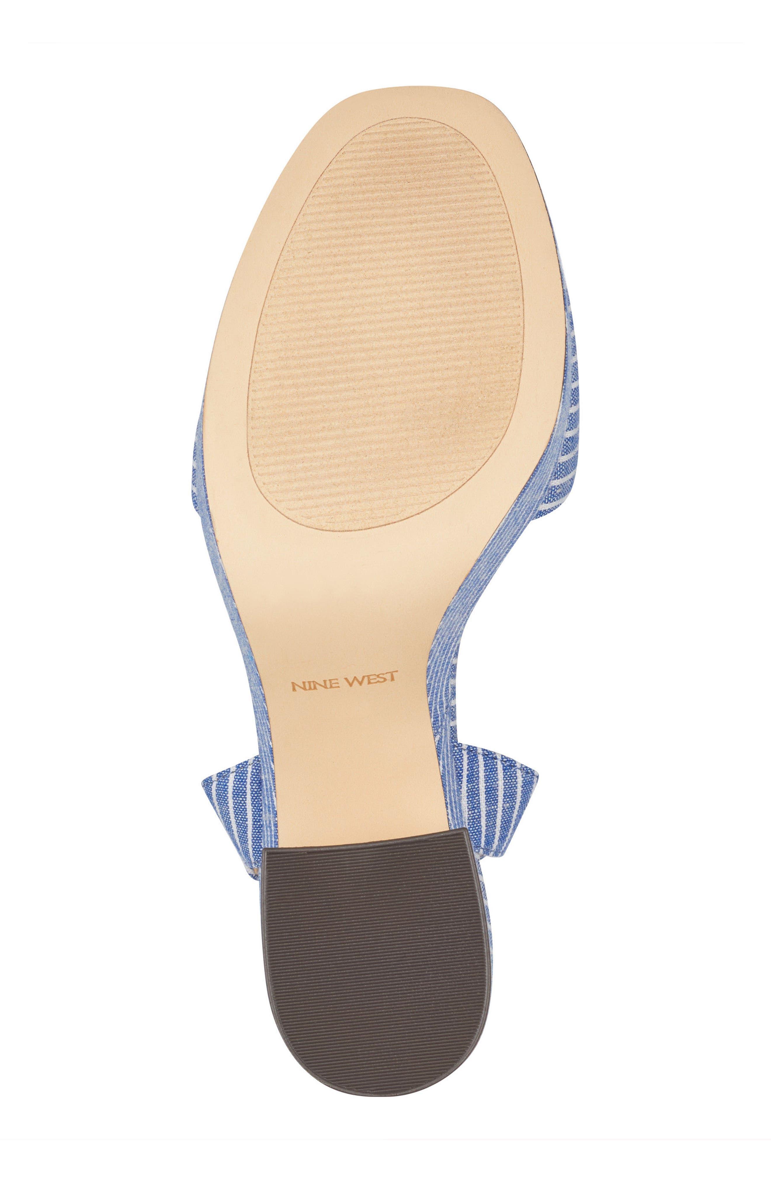 Fontayah Platform Sandal,                             Alternate thumbnail 6, color,                             Blue/ White Fabric