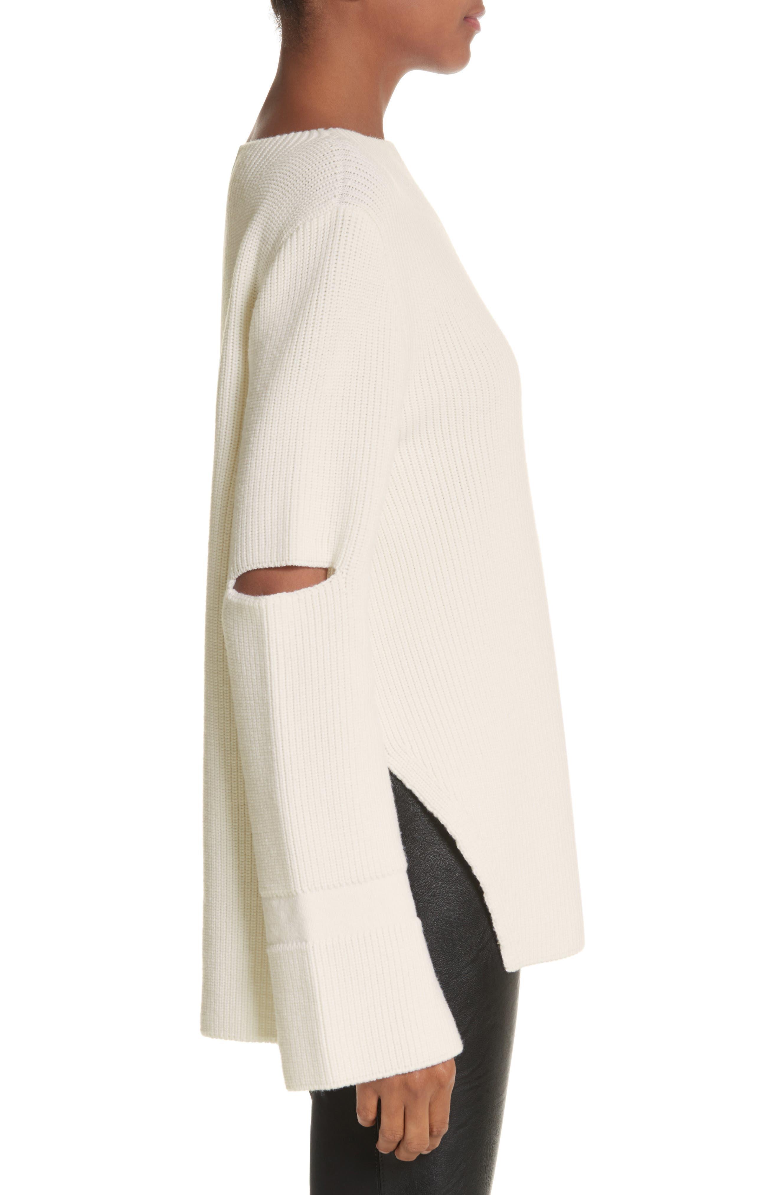 Alternate Image 3  - Stella McCartney Slit Back Virgin Wool Blend Sweater