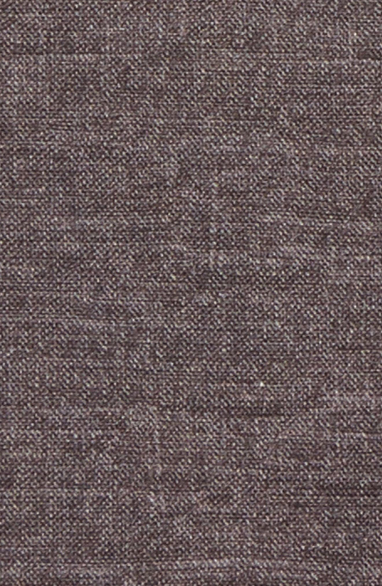 Solid Wool & Cotton Pocket Square,                             Alternate thumbnail 3, color,                             Charcoal