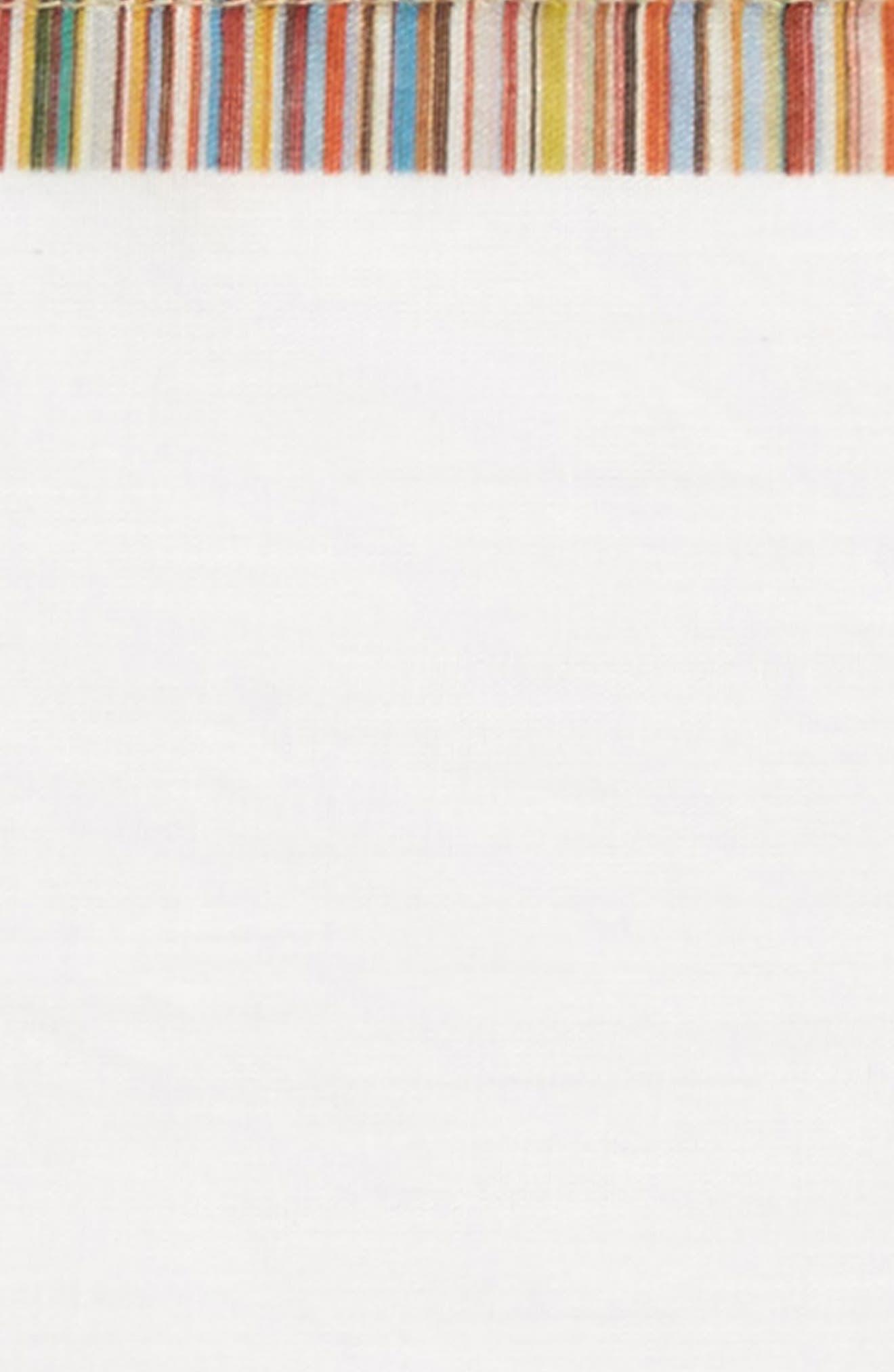Multistripe Pocket Square,                             Alternate thumbnail 3, color,                             White