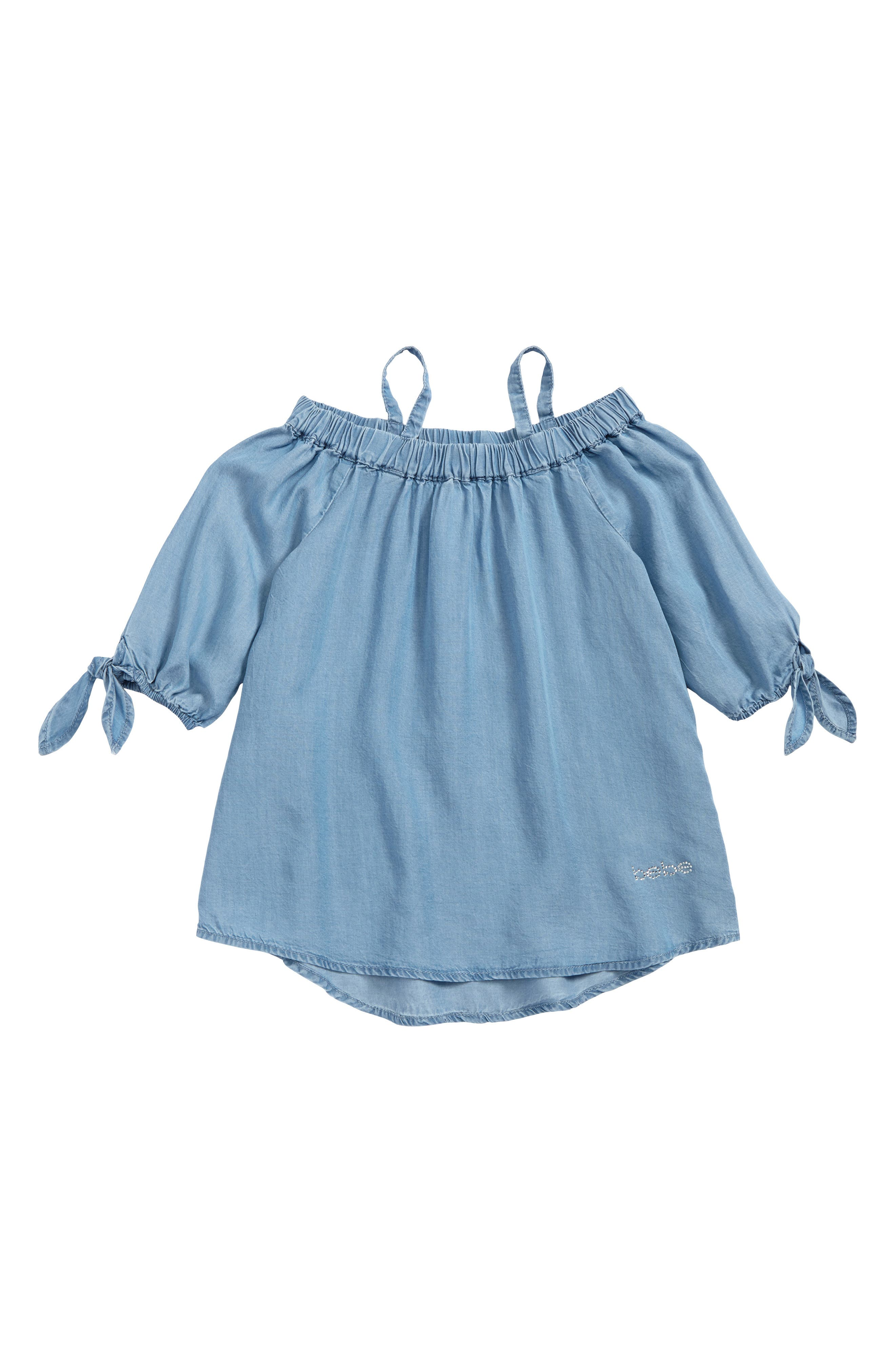 Main Image - bebe Off the Shoulder Top (Big Girls)