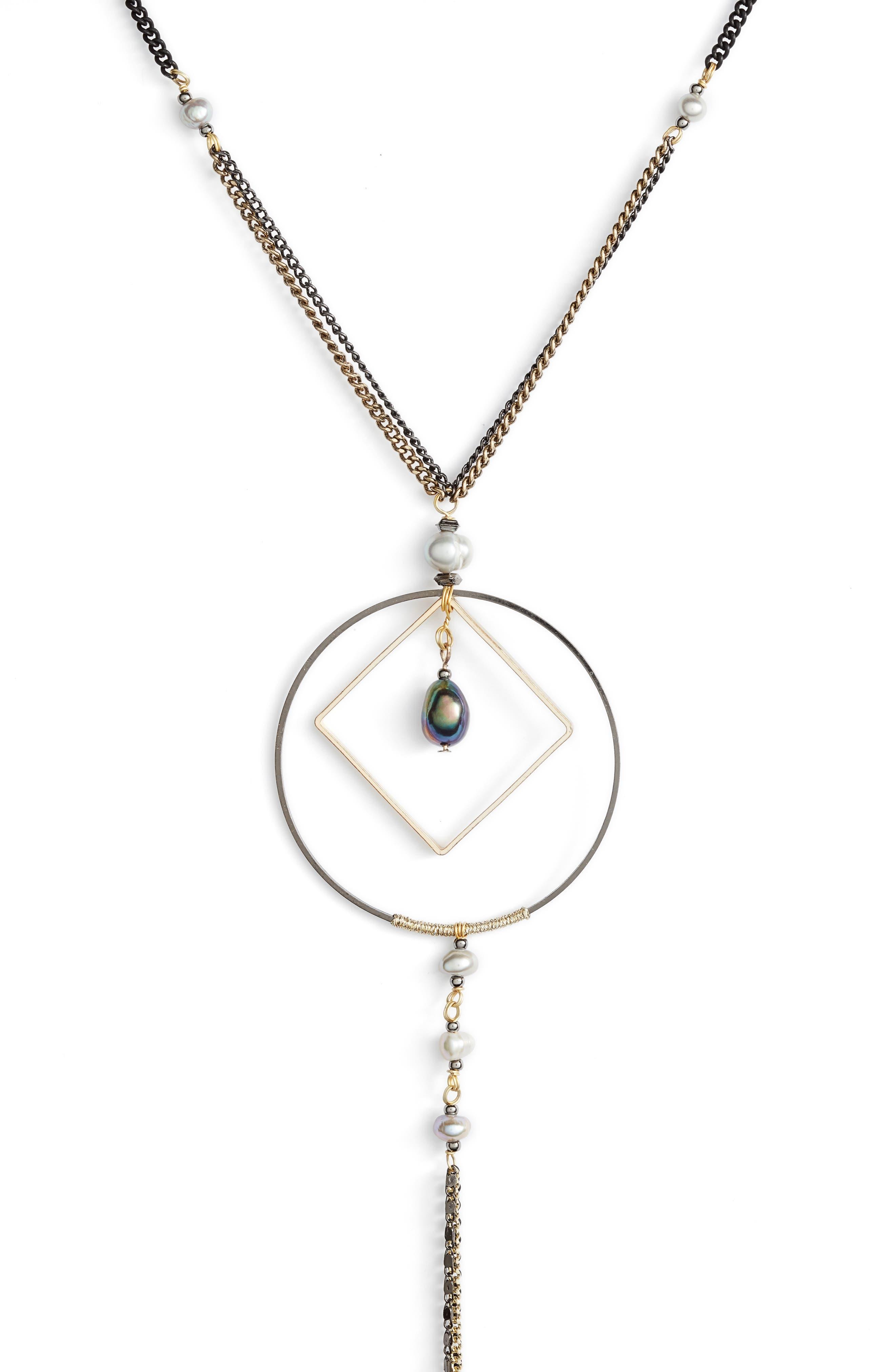 Alternate Image 2  - Nakamol Design Geometric Y-Necklace