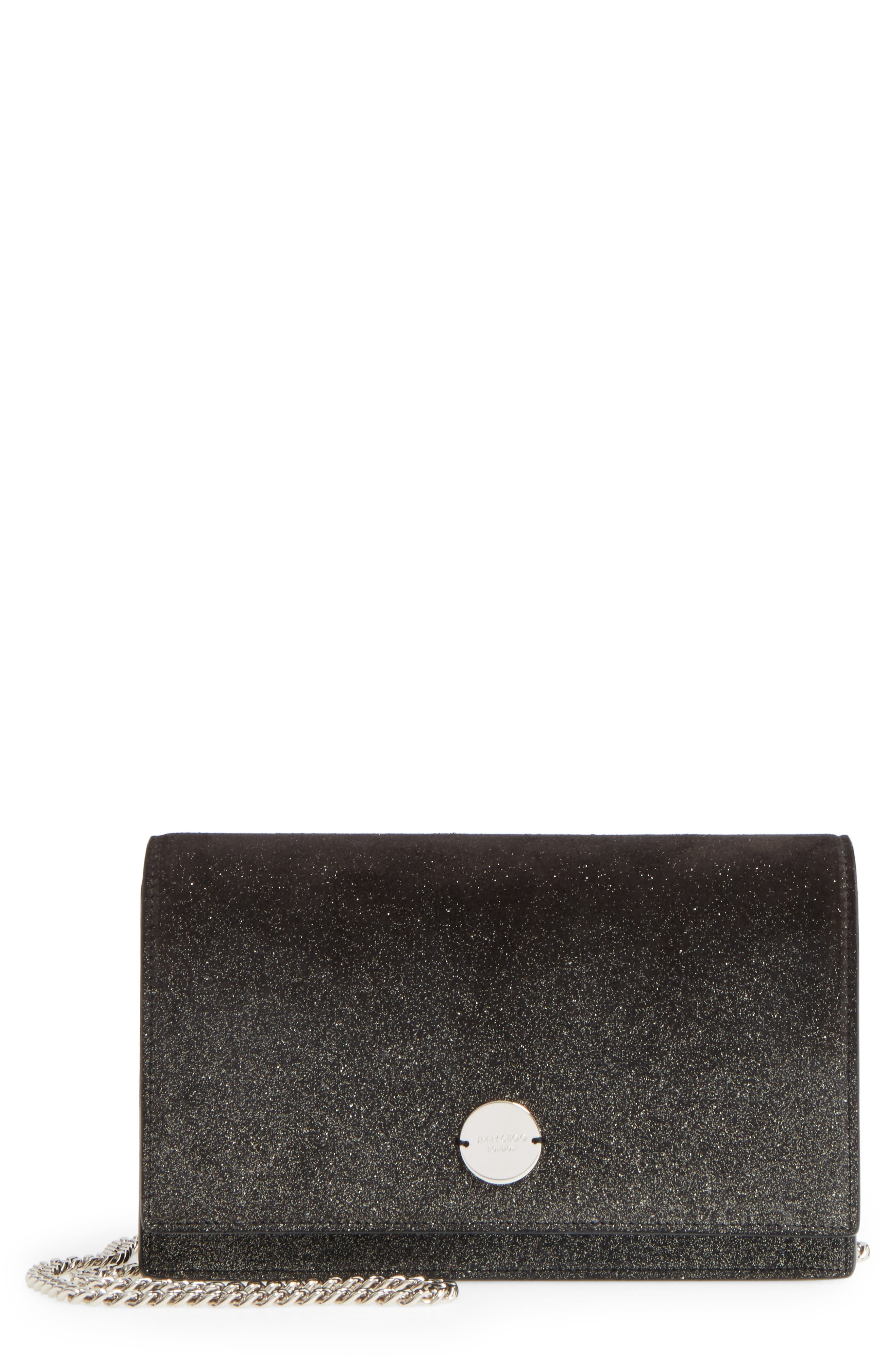 Main Image - Jimmy Choo Florence Ombré Glitter Suede Clutch