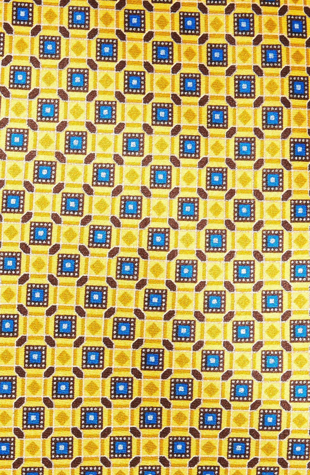 Alternate Image 2  - Canali Neat Print Silk Tie