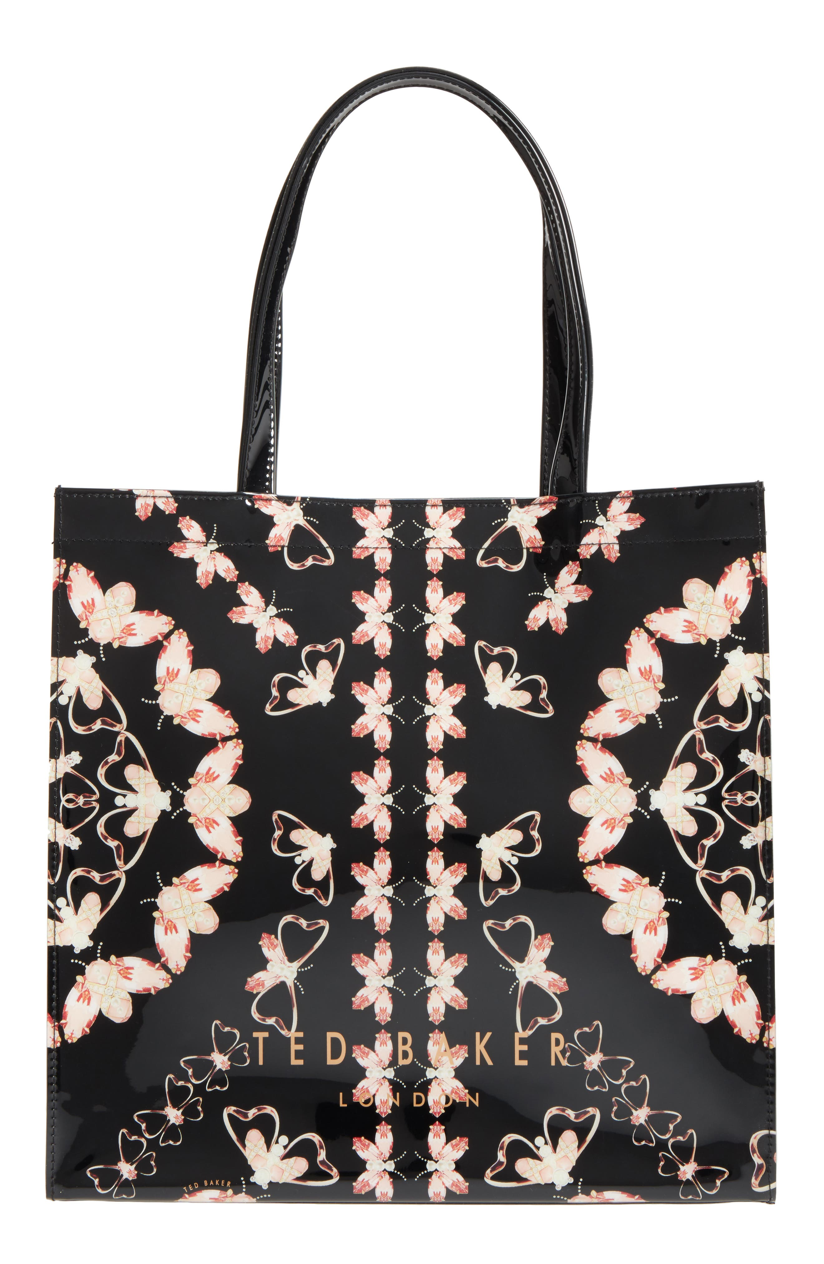 Large Icon Queen Bee Tote,                             Main thumbnail 1, color,                             Black