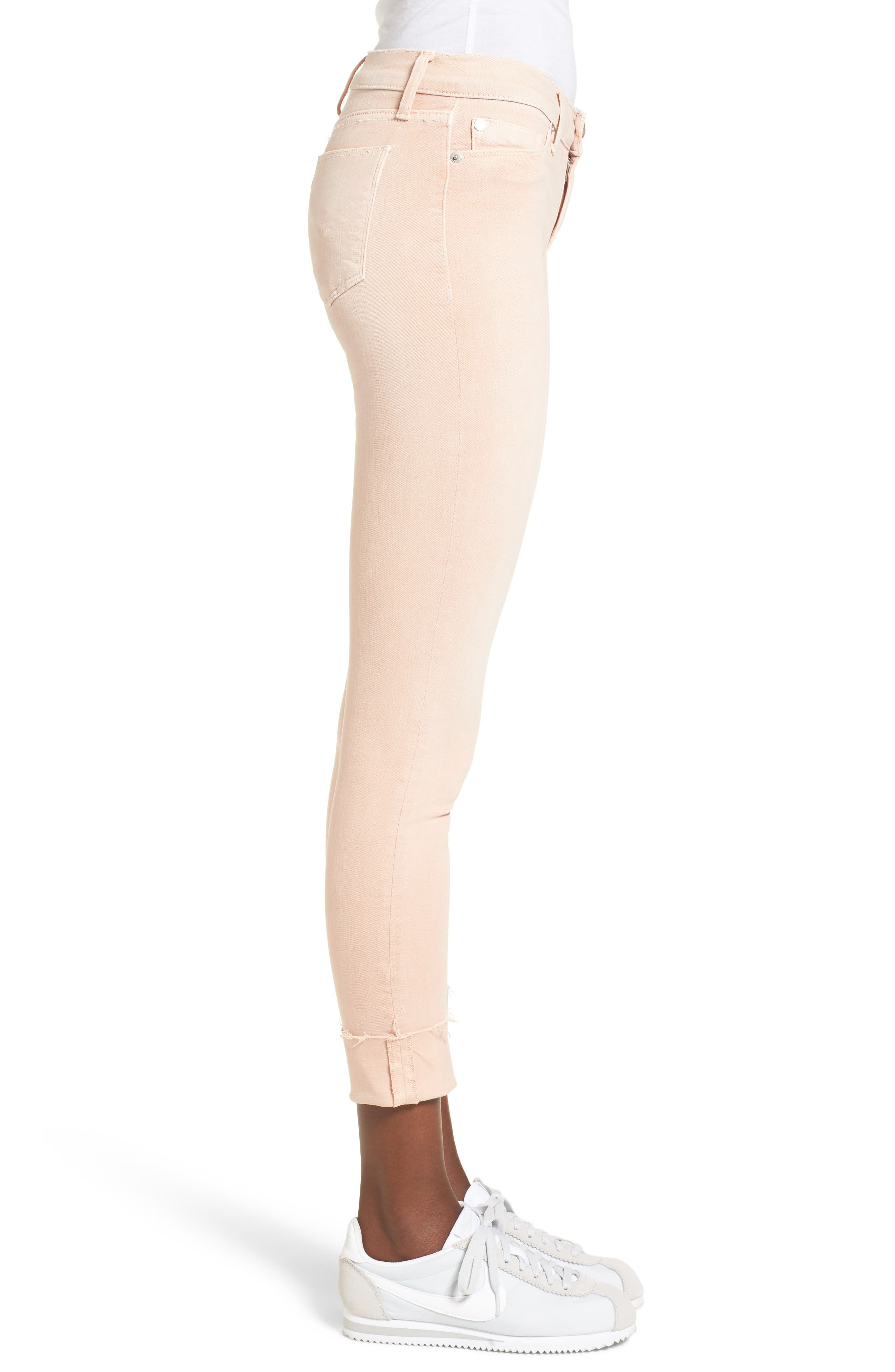 Tally Crop Skinny Jeans,                             Alternate thumbnail 3, color,                             Worn Rosewater