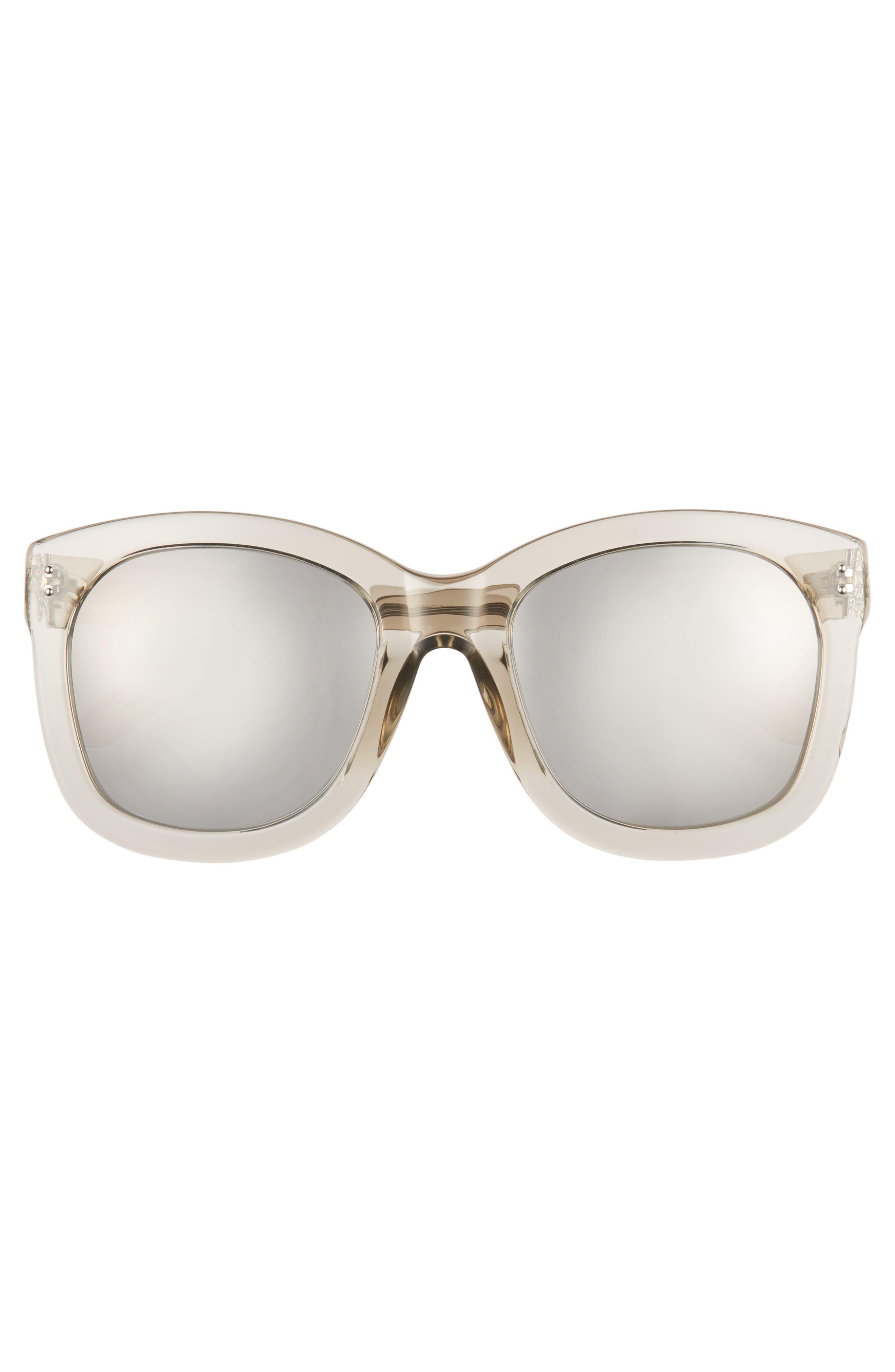 Alternate Image 3  - Linda Farrow 56mm Mirrored Sunglasses