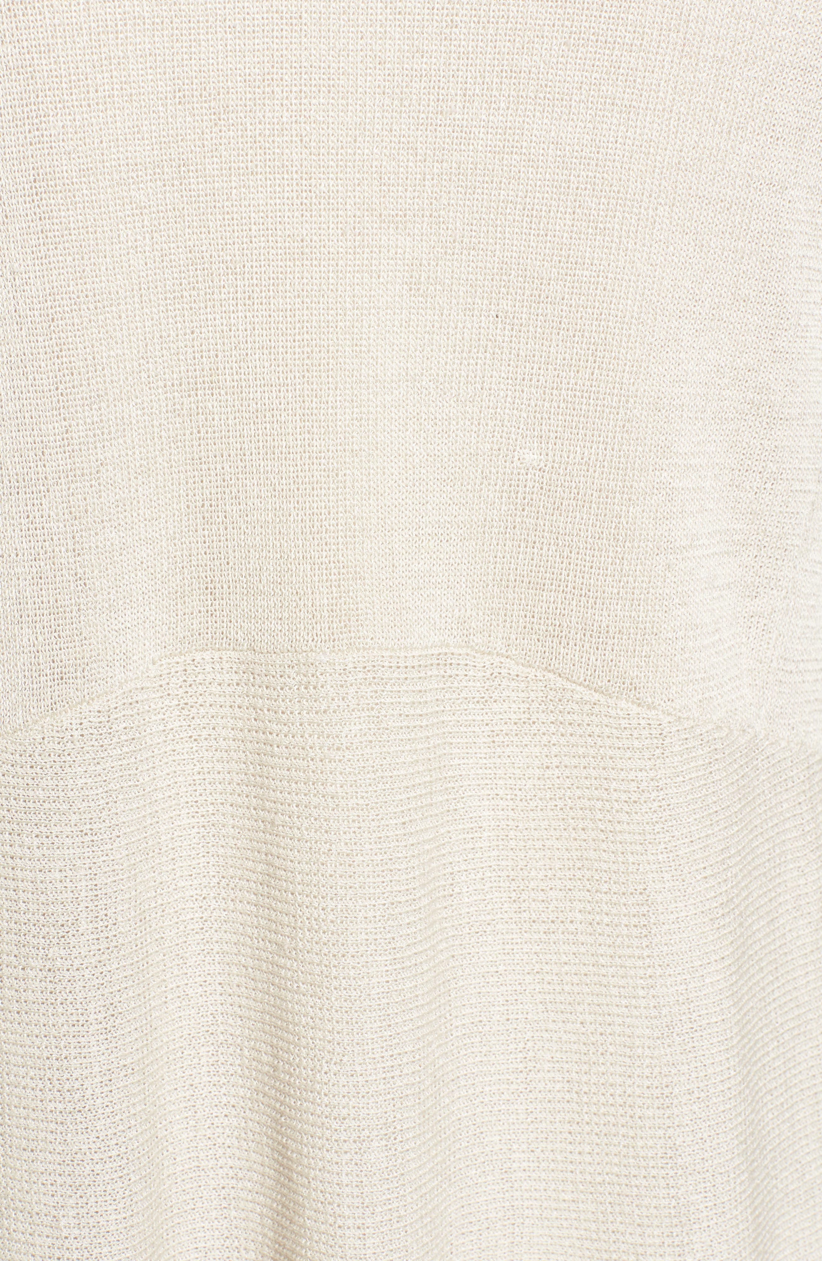 Fine Organic Linen Blend Cardigan,                             Alternate thumbnail 5, color,                             Bone
