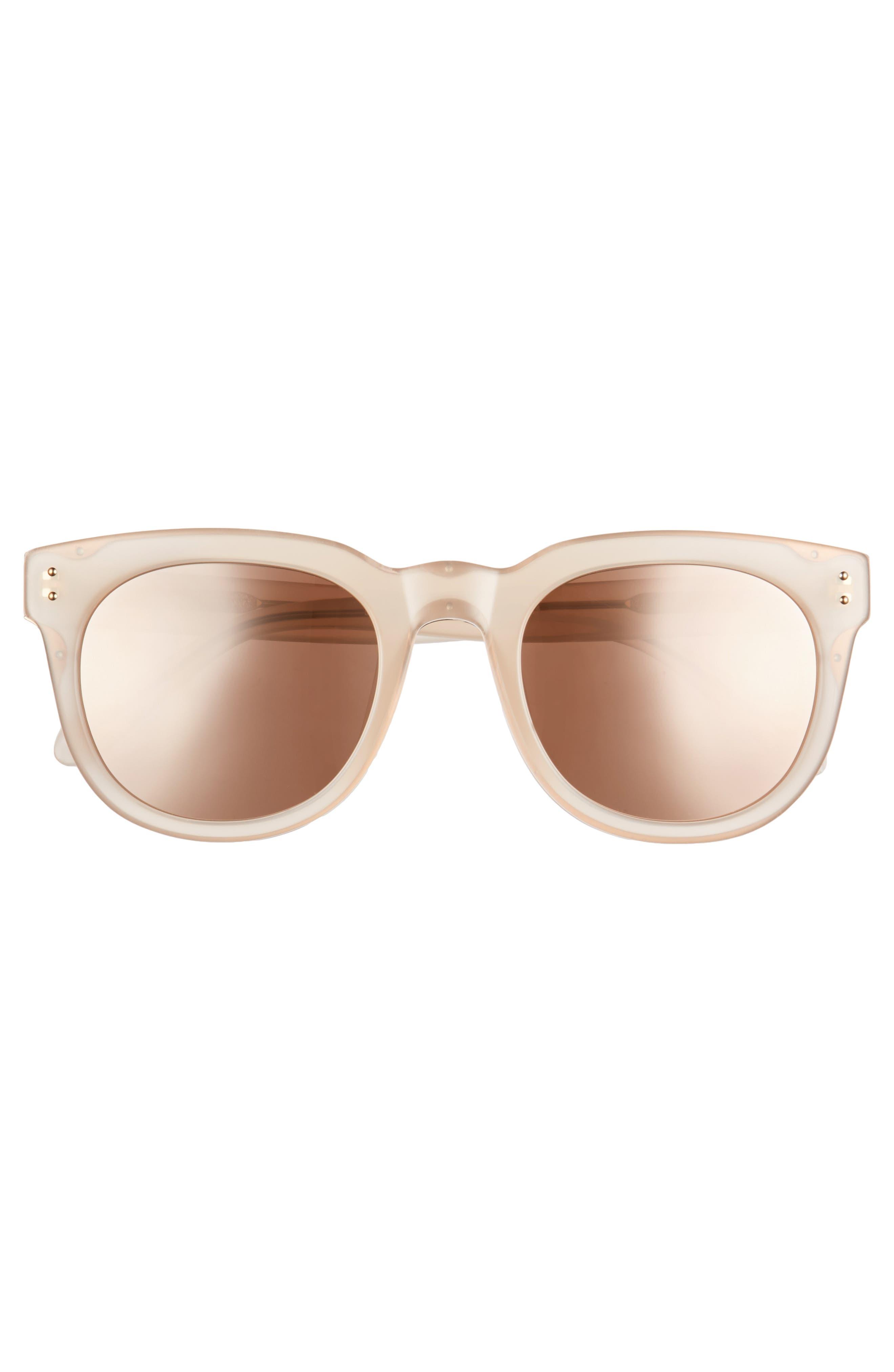 Alternate Image 3  - Linda Farrow 50mm D-Frame Mirrored Sunglasses