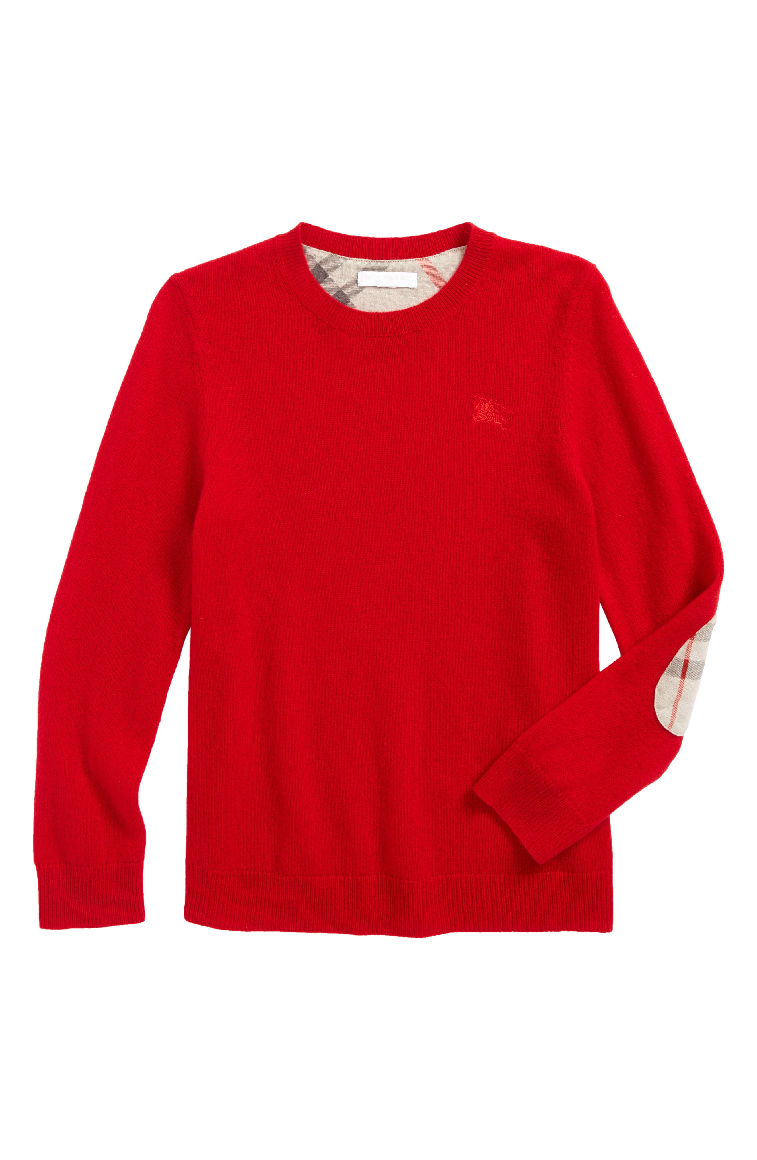 Durham Cashmere Sweater,                             Main thumbnail 1, color,                             Parade Red