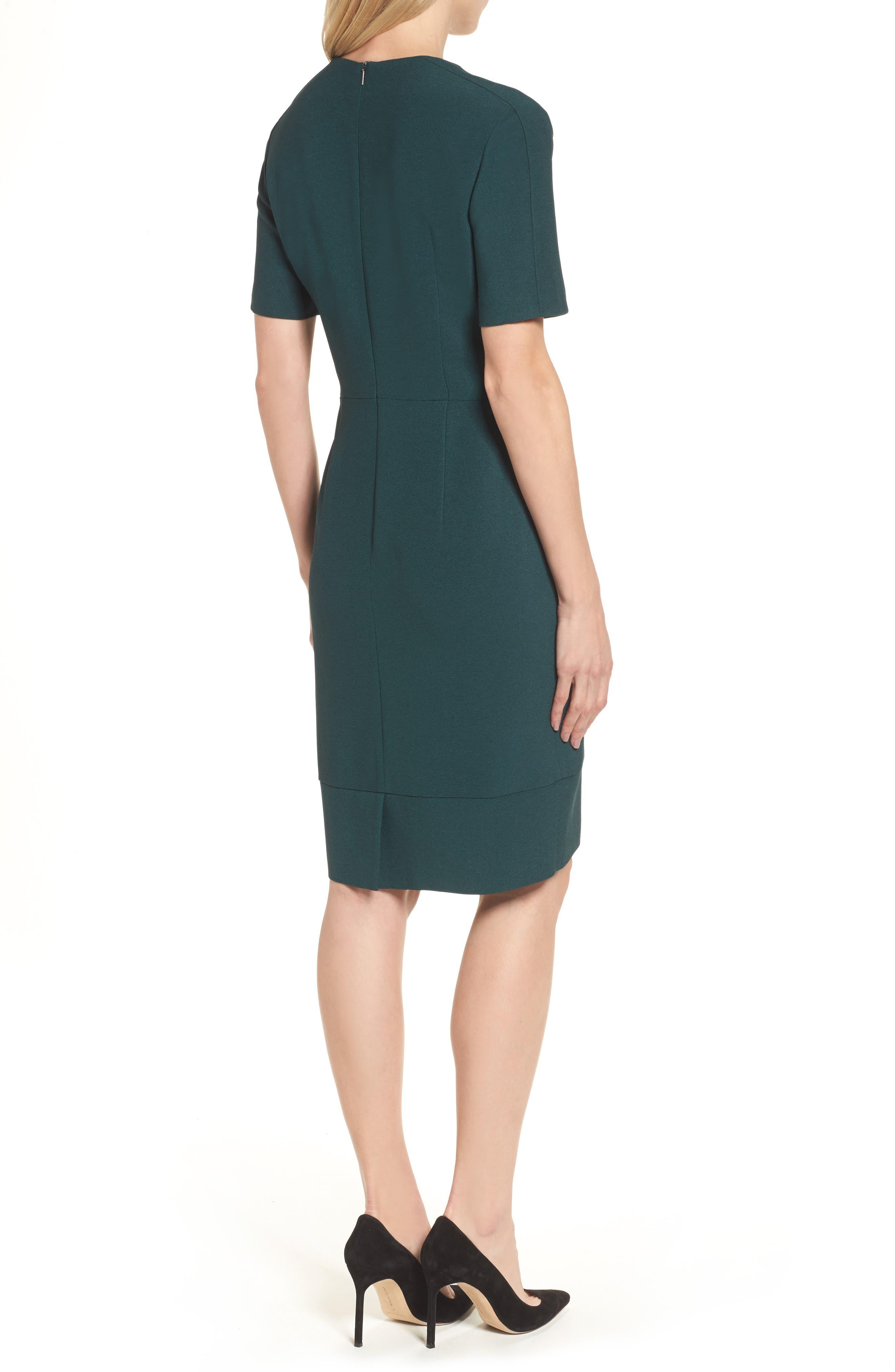 Dalesana Sheath Dress,                             Alternate thumbnail 2, color,                             Peacock Green