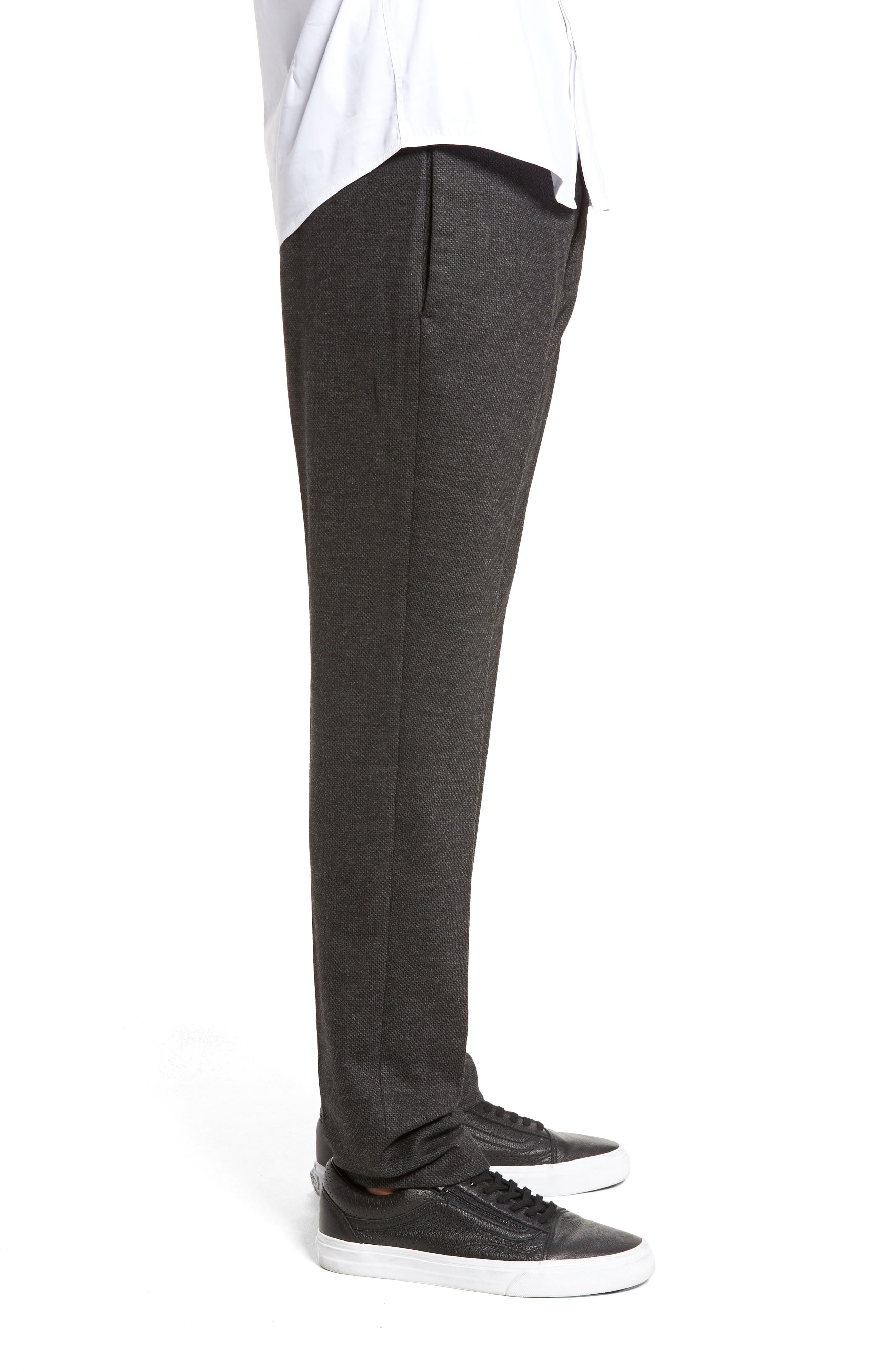 Drawstring Dress Pants,                             Alternate thumbnail 3, color,                             Dark Melange