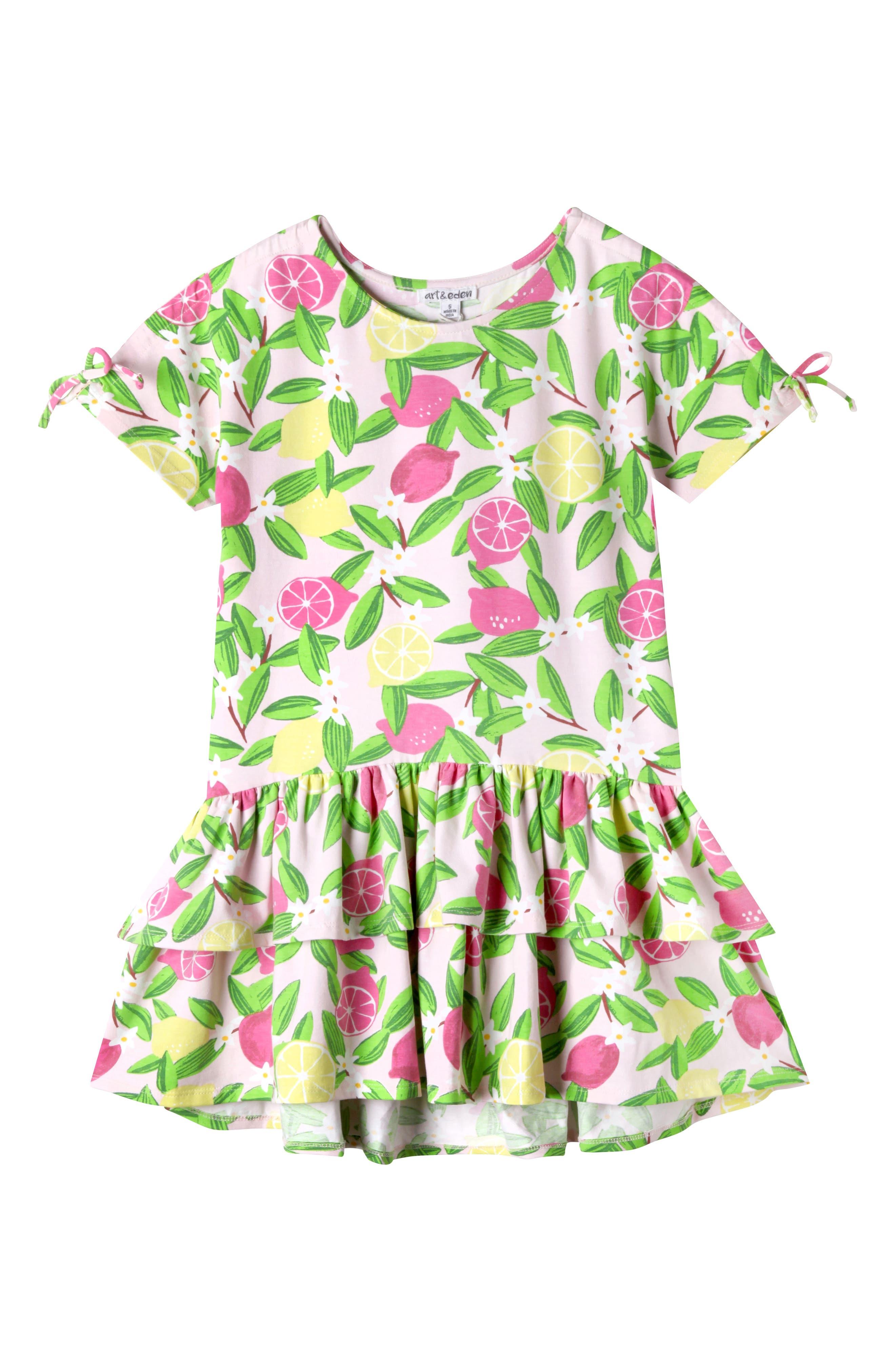 Meadow Ruffle Hem Dress,                         Main,                         color, Pink Pil