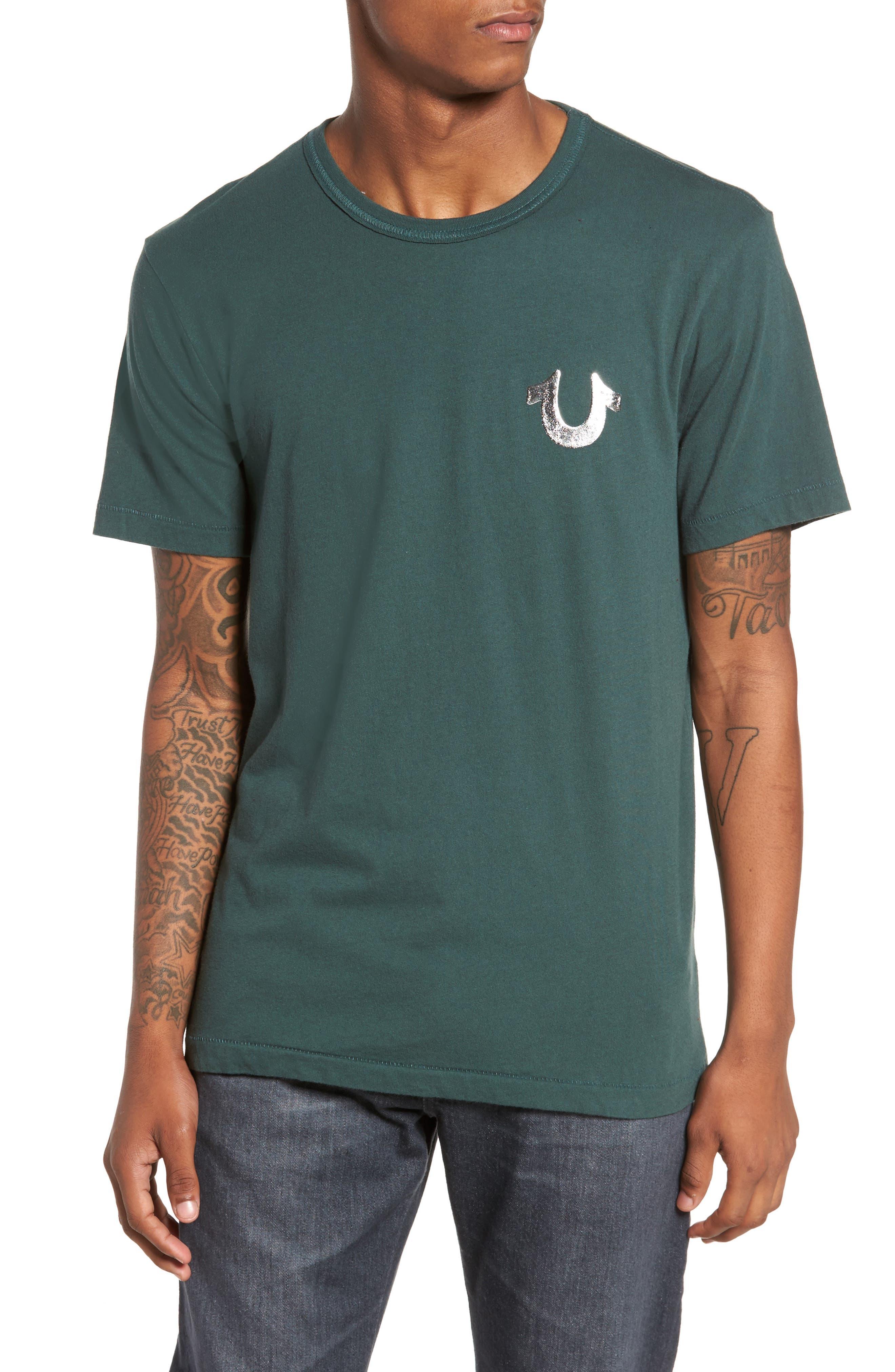 Core T-Shirt,                         Main,                         color, Hunter Green W/ Silver