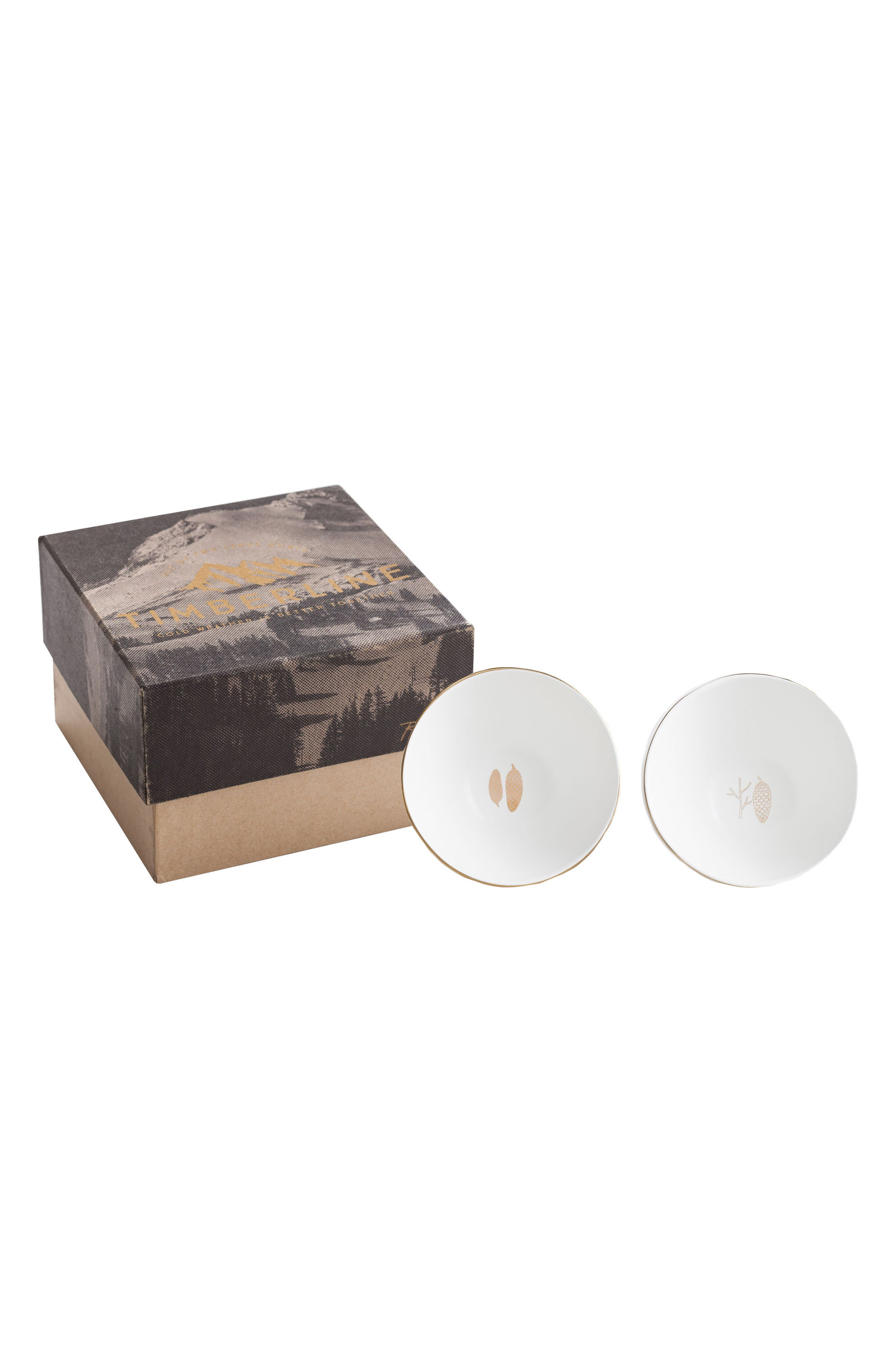 Timberline Set of 2 Porcelain Plates,                         Main,                         color, White/ Gold