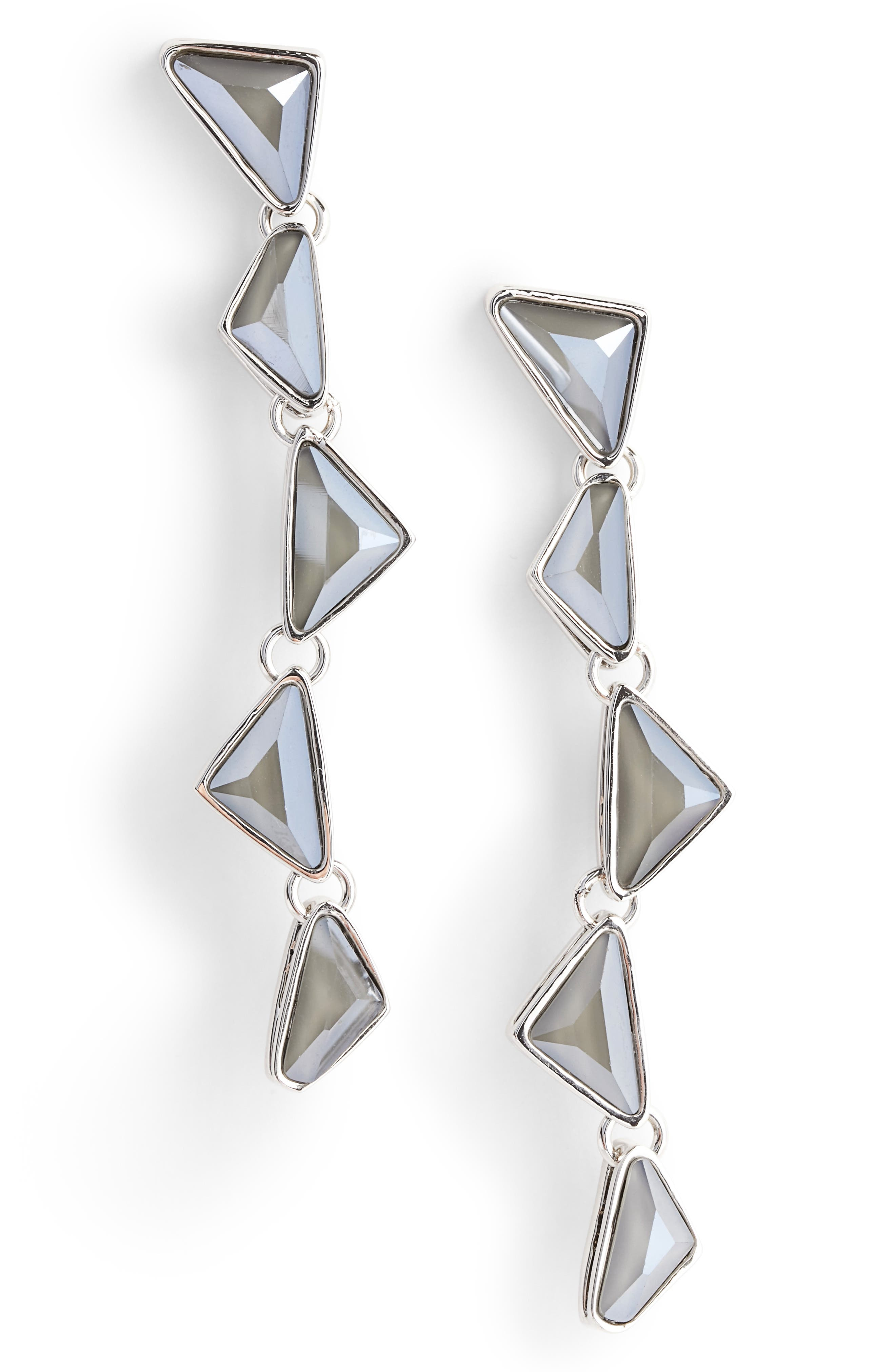 Swarovski Crystal Drop Earrings,                         Main,                         color, Rhodium/ Crystal