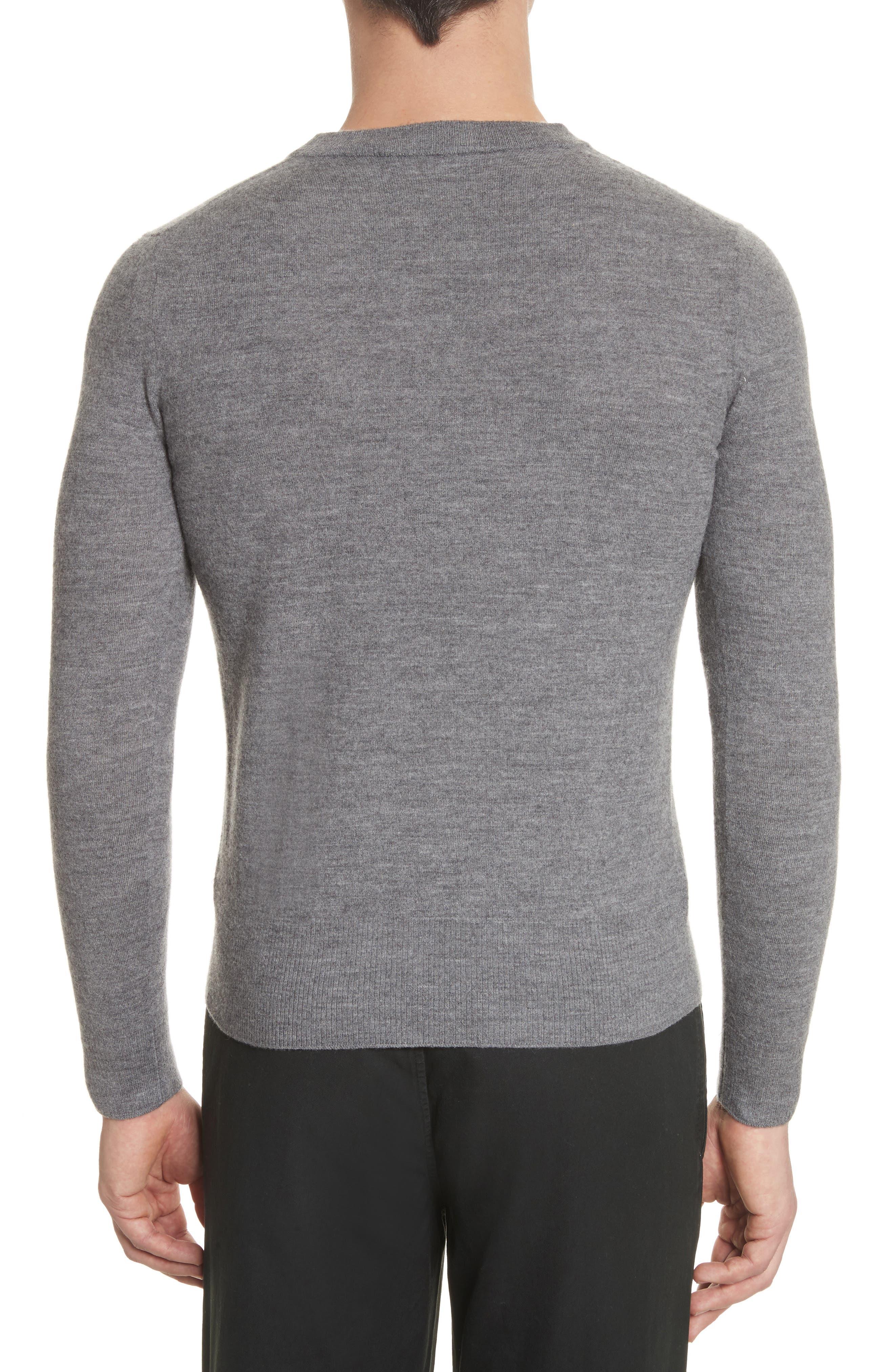 Nalon Wool Sweater,                             Alternate thumbnail 2, color,                             Grey Melange